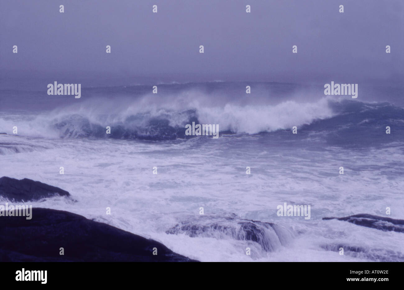 Stormy sea in Hebrides Scotland - Stock Image