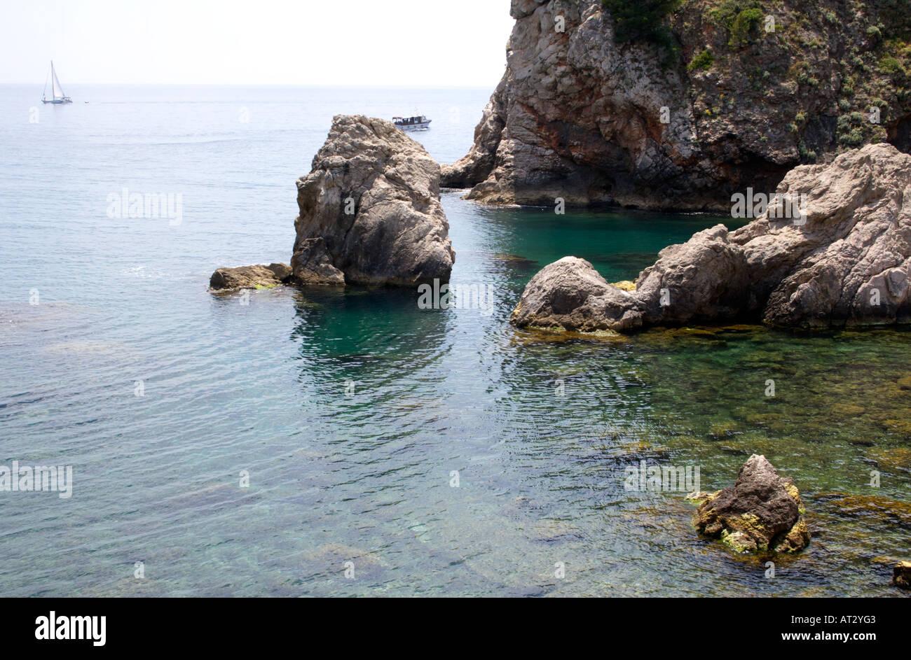 Boat in the Adriatic Sea - Stock Image