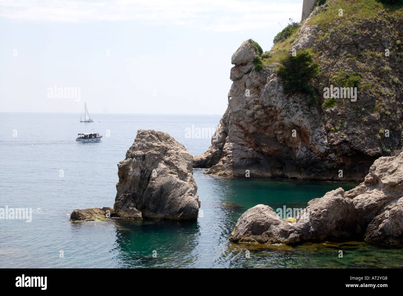Sailing Boats in the Adriatic Sea - Stock Image