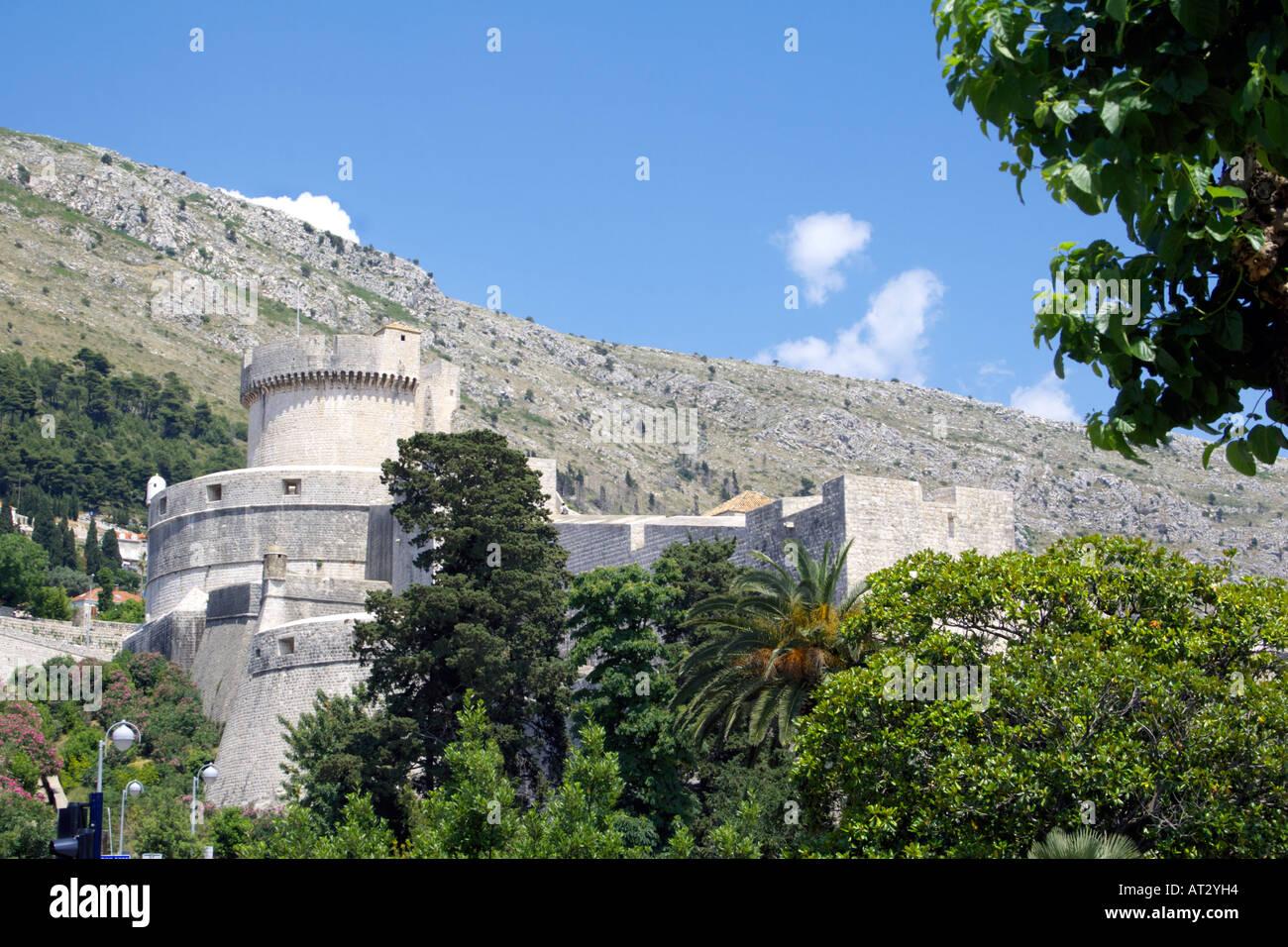Minceta Fortress and City Walls, Dubrovnik, Croatia - Stock Image