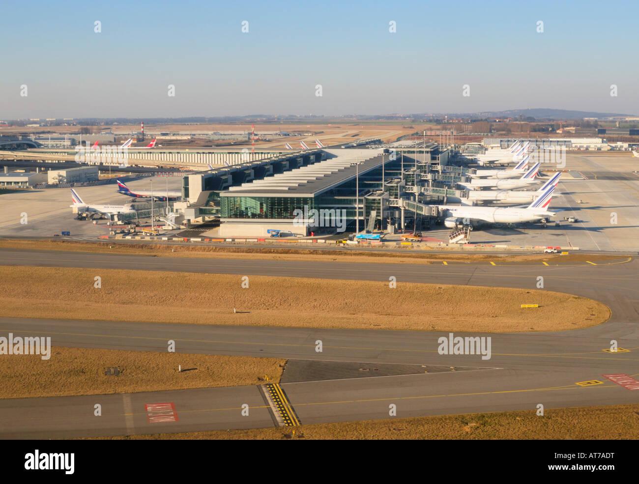 Charles de Gaulle Airport (CDG) Terminal 2E, Paris, France FR Stock Photo