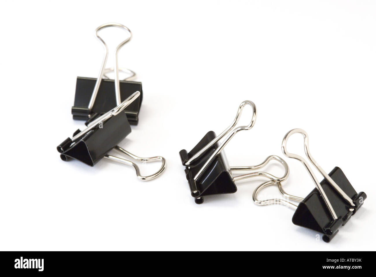Binder clips, close-up - Stock Image