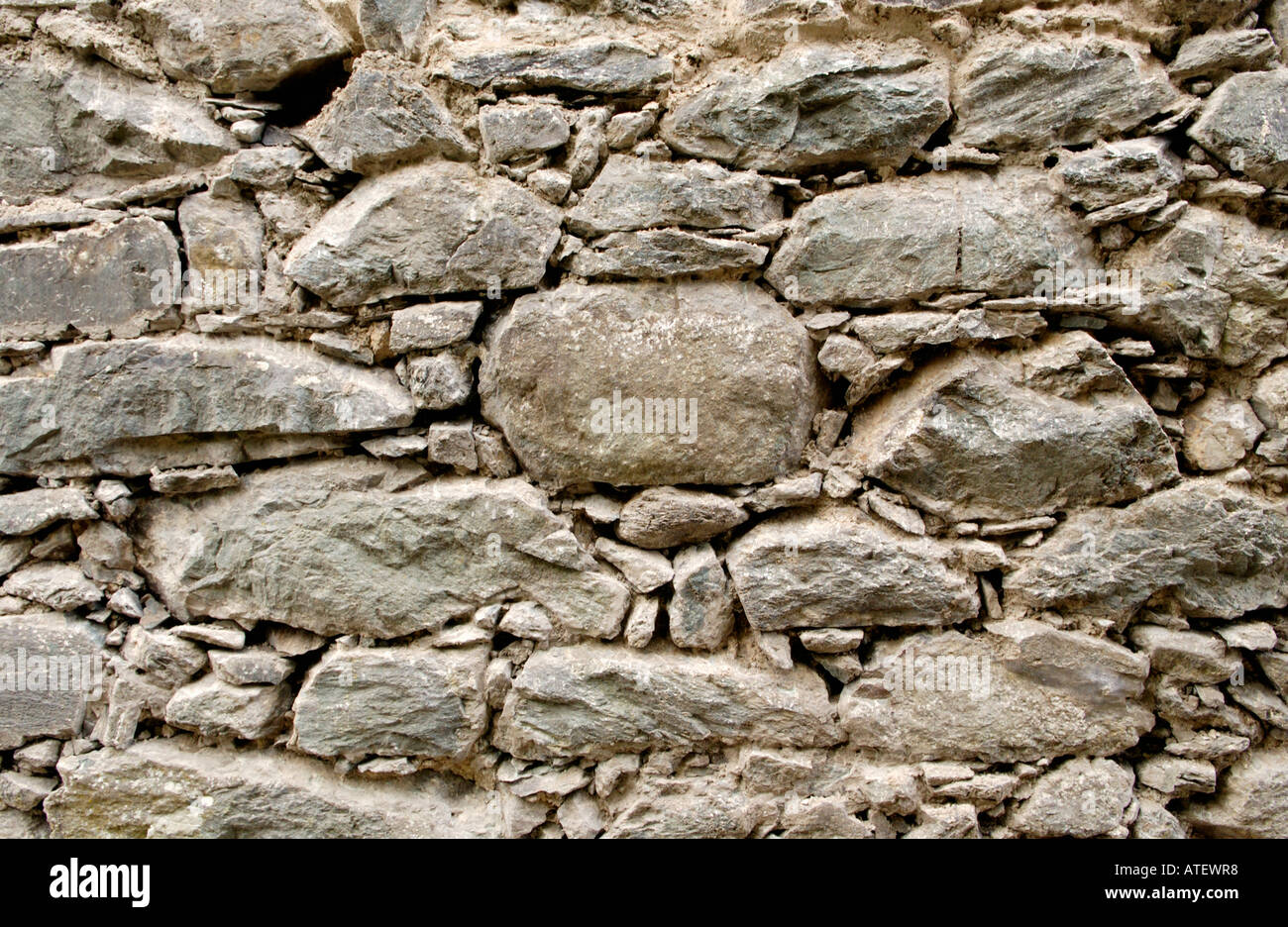 Wonderful Outside Stone Wall Of Traditional Cottage Being Renovated With Joints  Prepared Ready For Pointing Lime Mortar North Wales UK