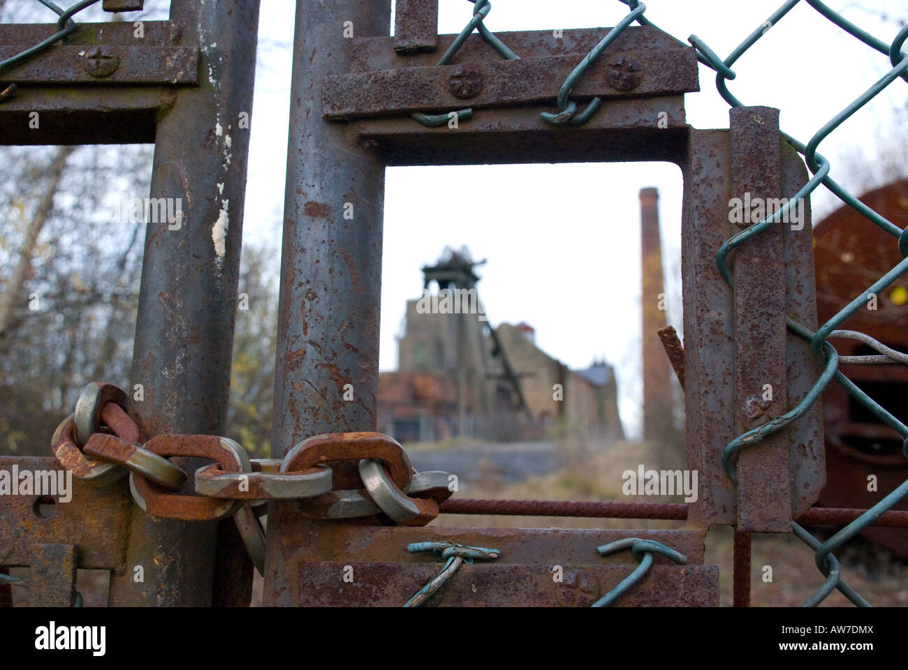 Pleasley colliery closed down Stock Photo
