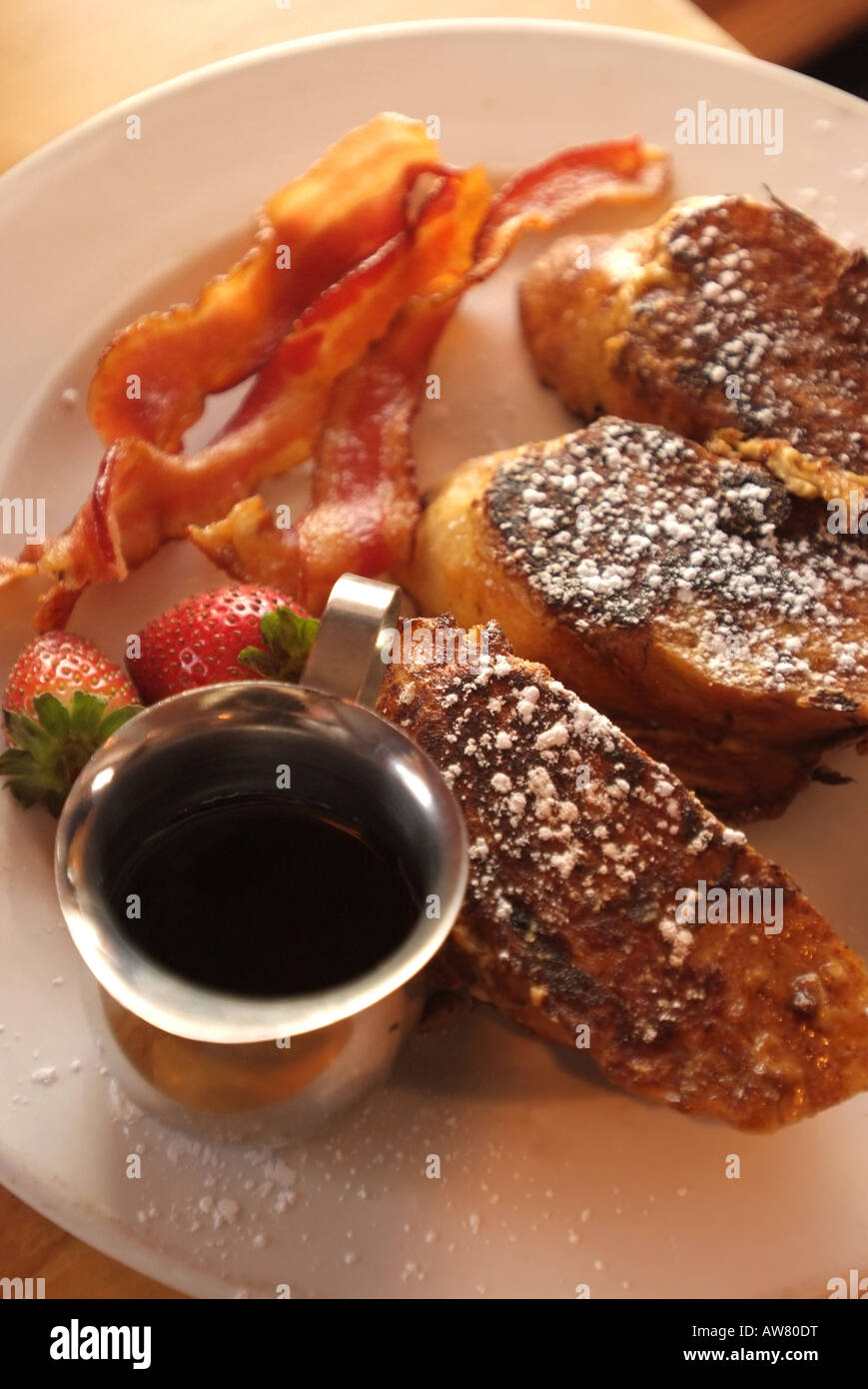 USA Sperryville Thronton River Grille French Toast served at Sunday Brunch Stock Photo