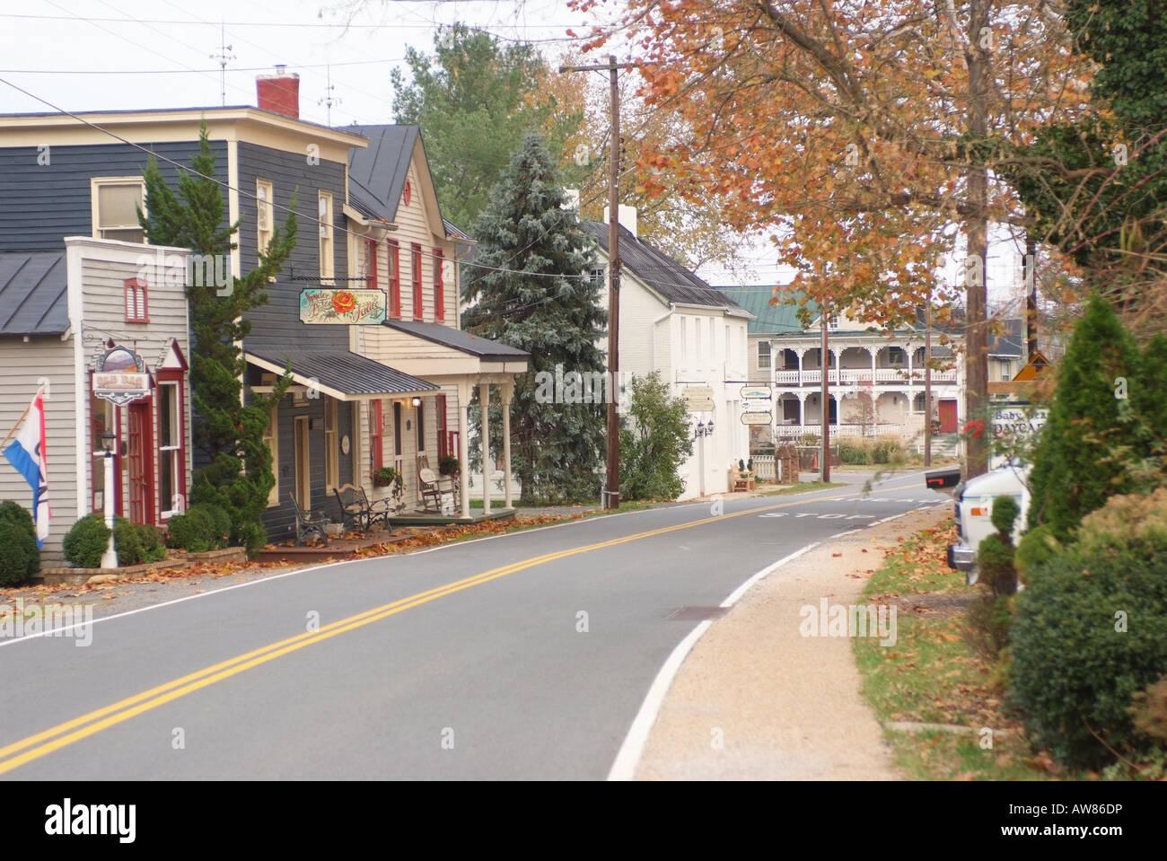 USA Sperryville VA Street scene Stock Photo