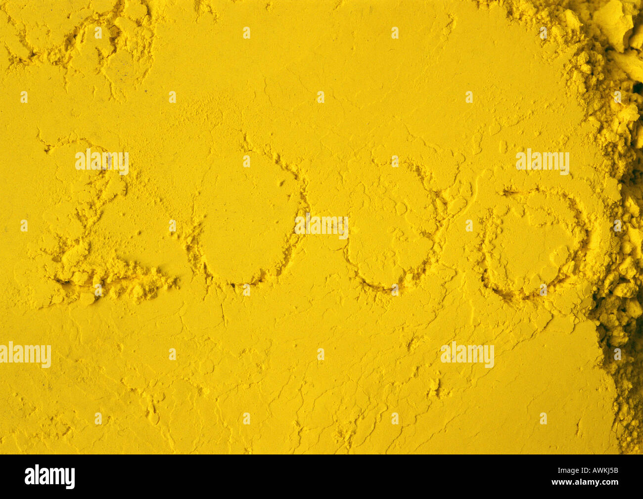 2000 text in concrete. - Stock Image