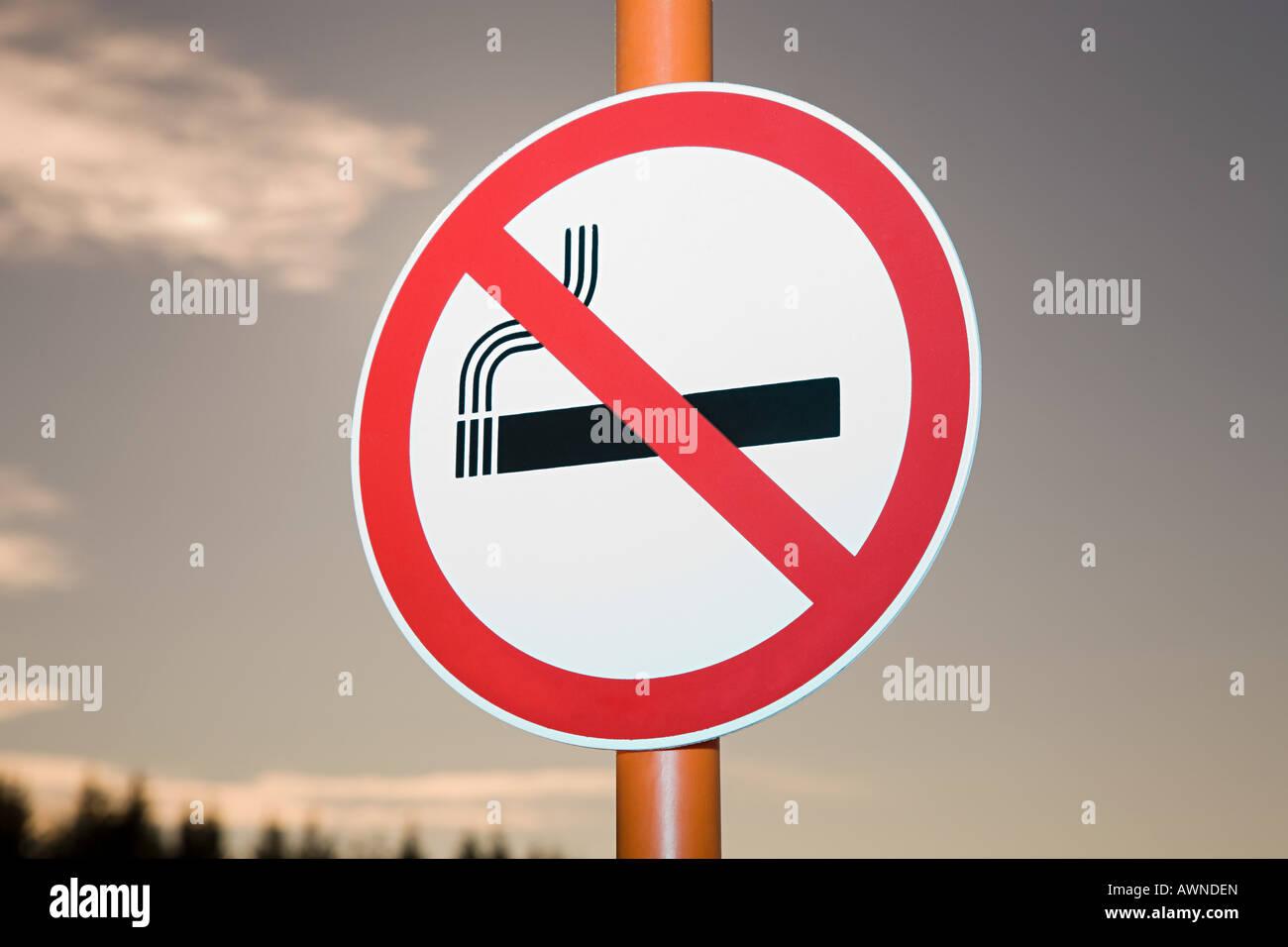 No smoking sign - Stock Image