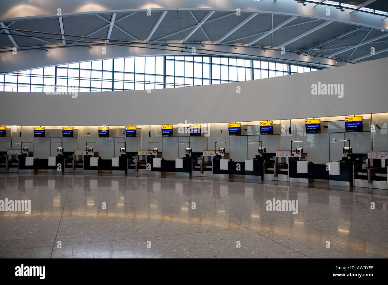 London Heathrow Airport, Terminal 5, London, England, UK - Stock Image