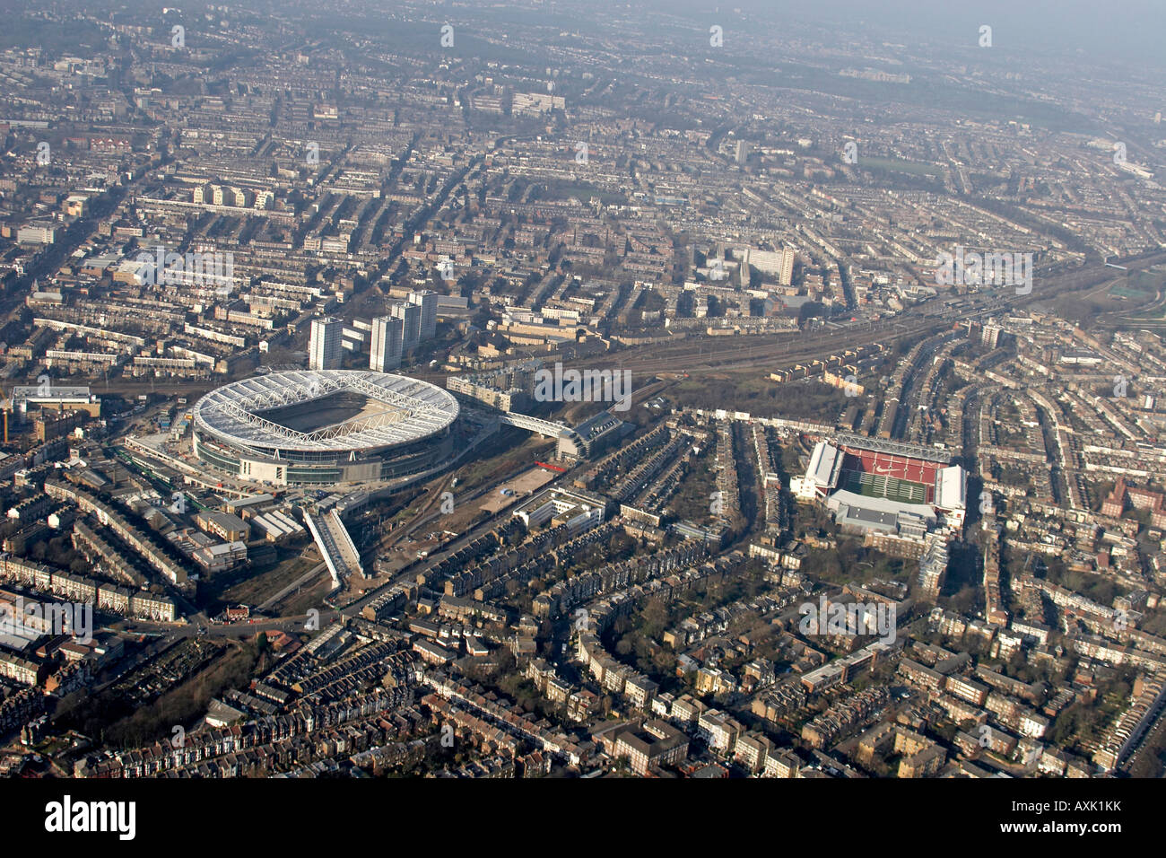 High Level Oblique Aerial View North West Of Arsenal