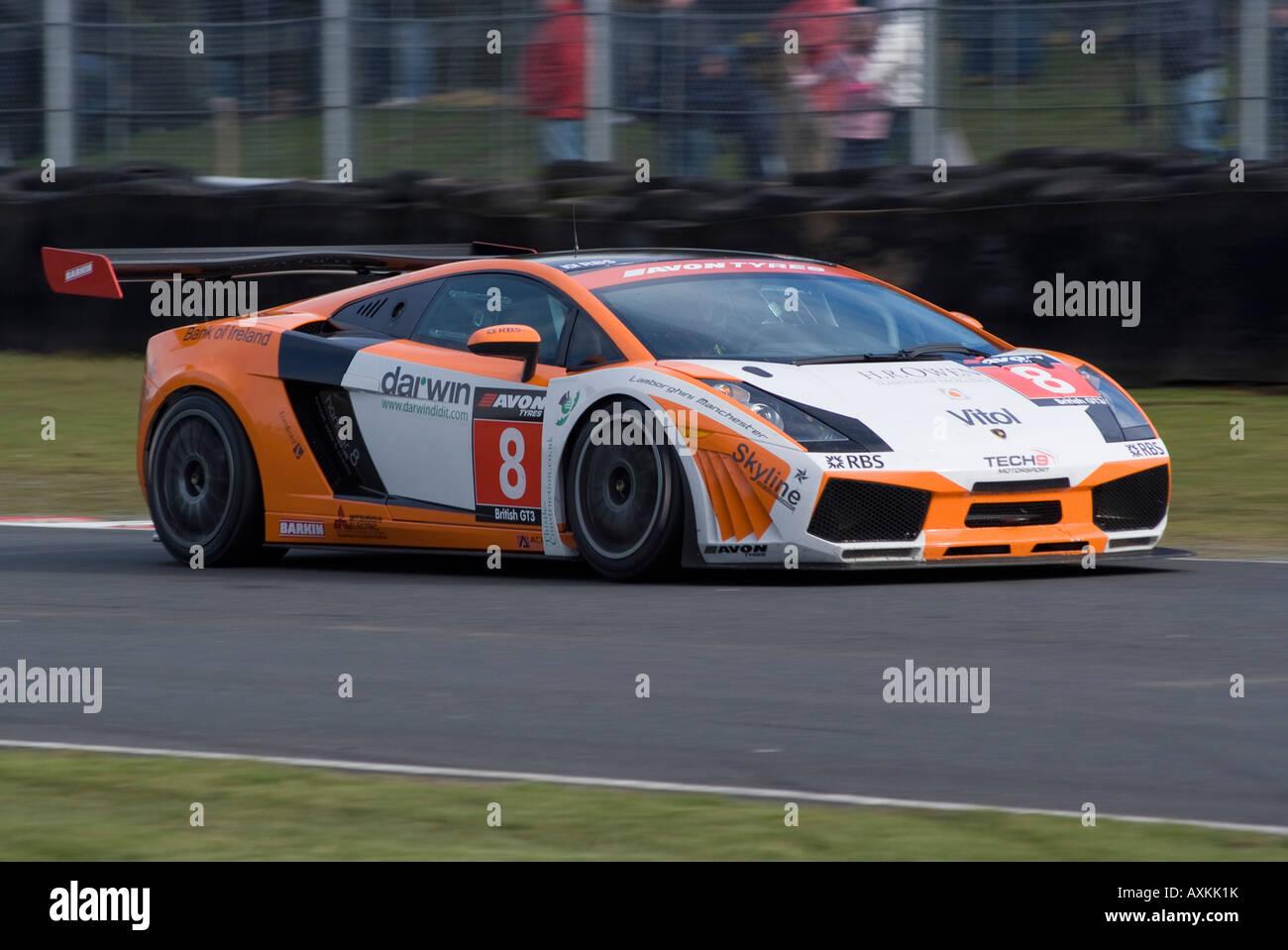 Lamborghini Gallardo GT3 Sports Racing Car in British GT ...