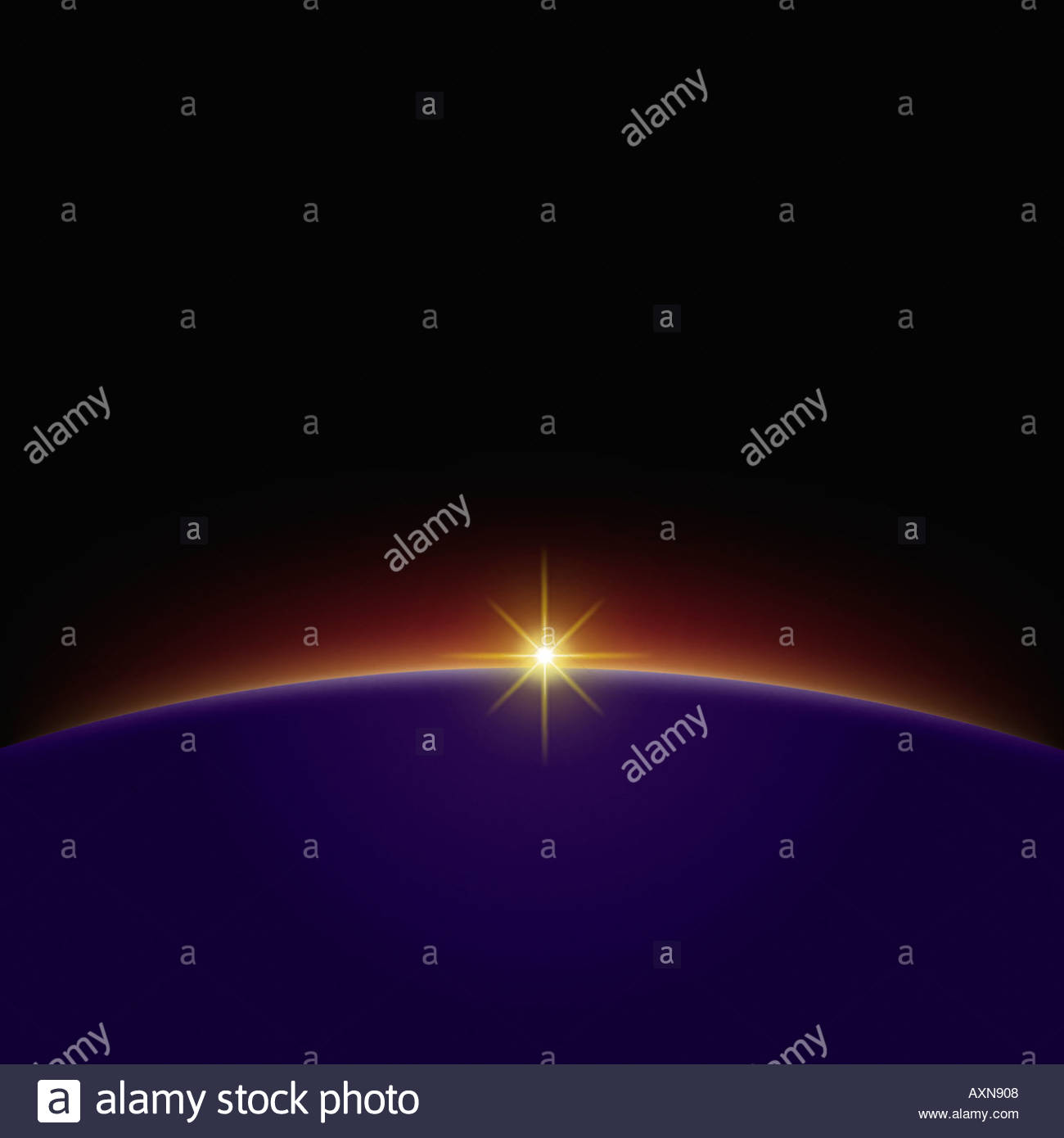 illustration-of-dawn-high-above-the-eart