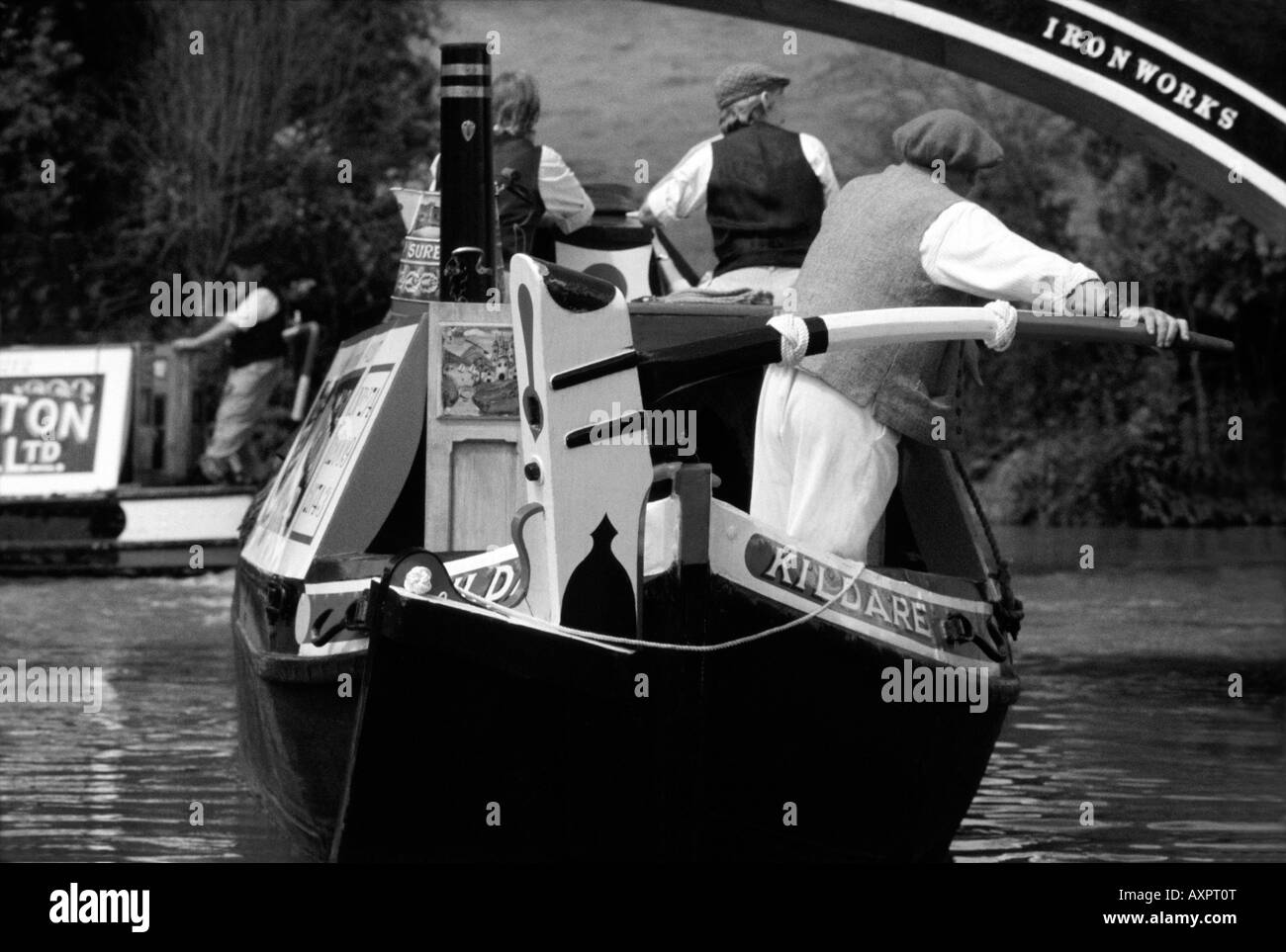 PICTURE CREDIT Doug Blane Narrowboat on the canal - Stock Image