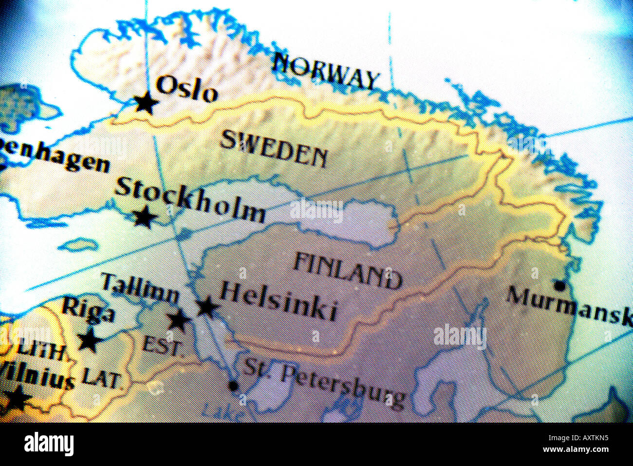 Close up map showing the nordic countries norway finland and close up map showing the nordic countries norway finland and sweden gumiabroncs Images