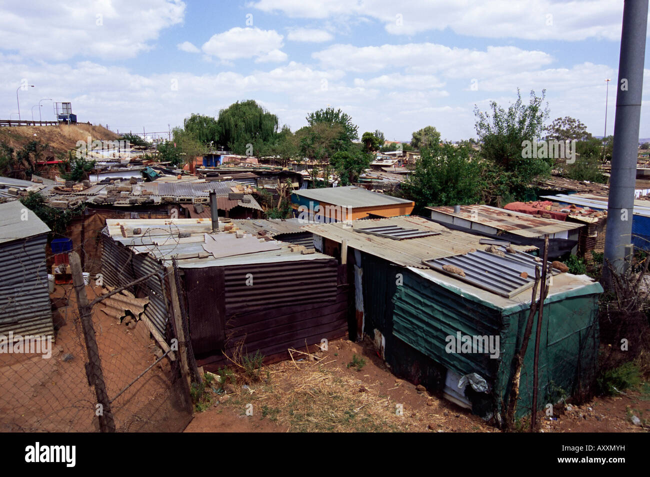 Shacks, Soweto, Johannesburg, South Africa, Africa - Stock Image