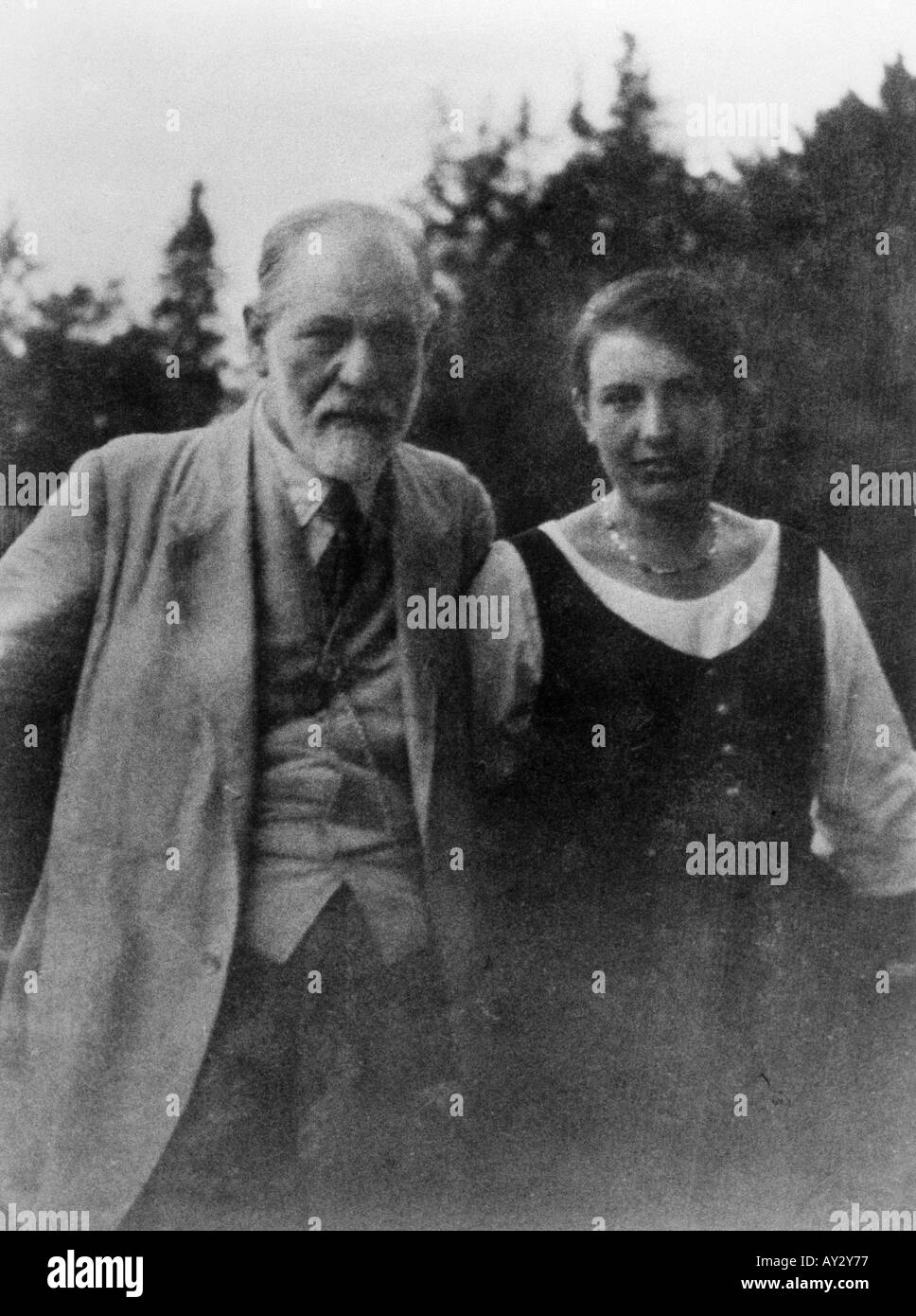 Freud Anna 1920s 45d - Stock Image