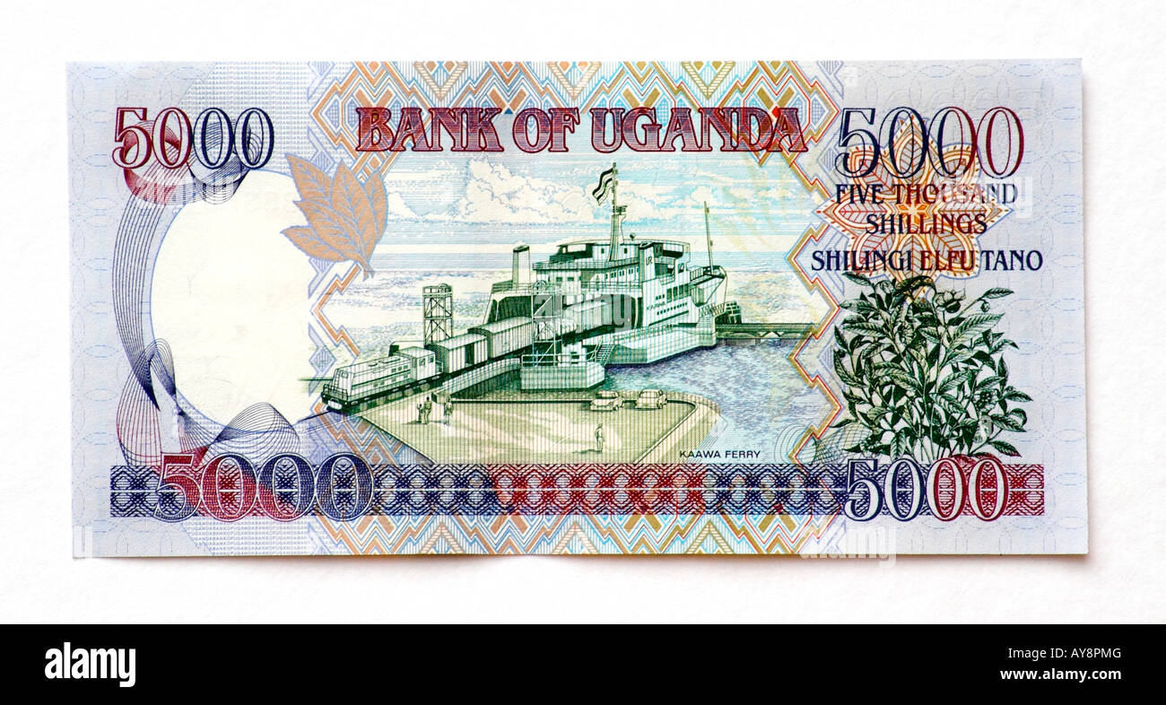 Uganda 5000 Shilling bank note - Stock Image