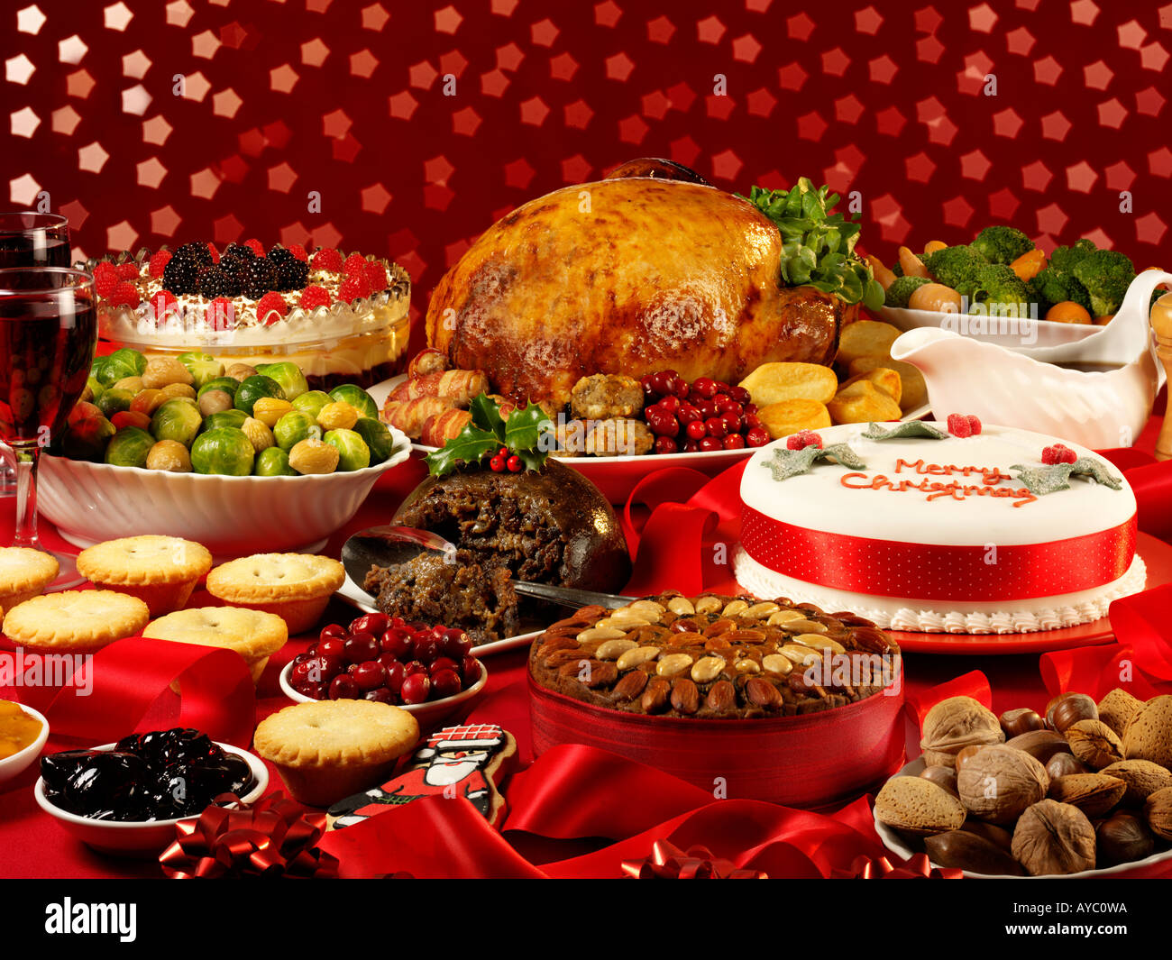 TRADITIONAL CHRISTMAS FOODStock Photo
