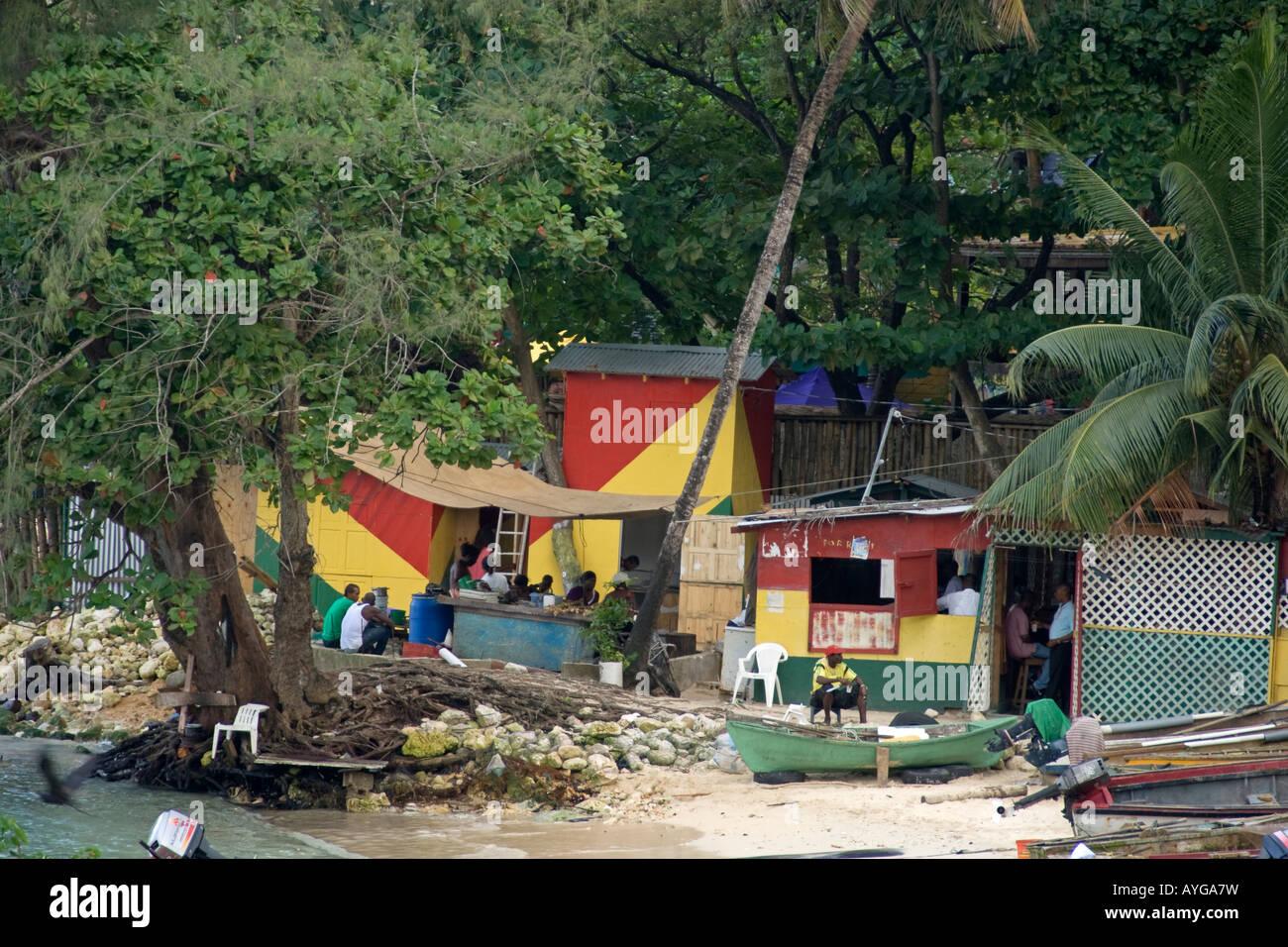 Jamaica Ochos Rios Slum Stock Photo
