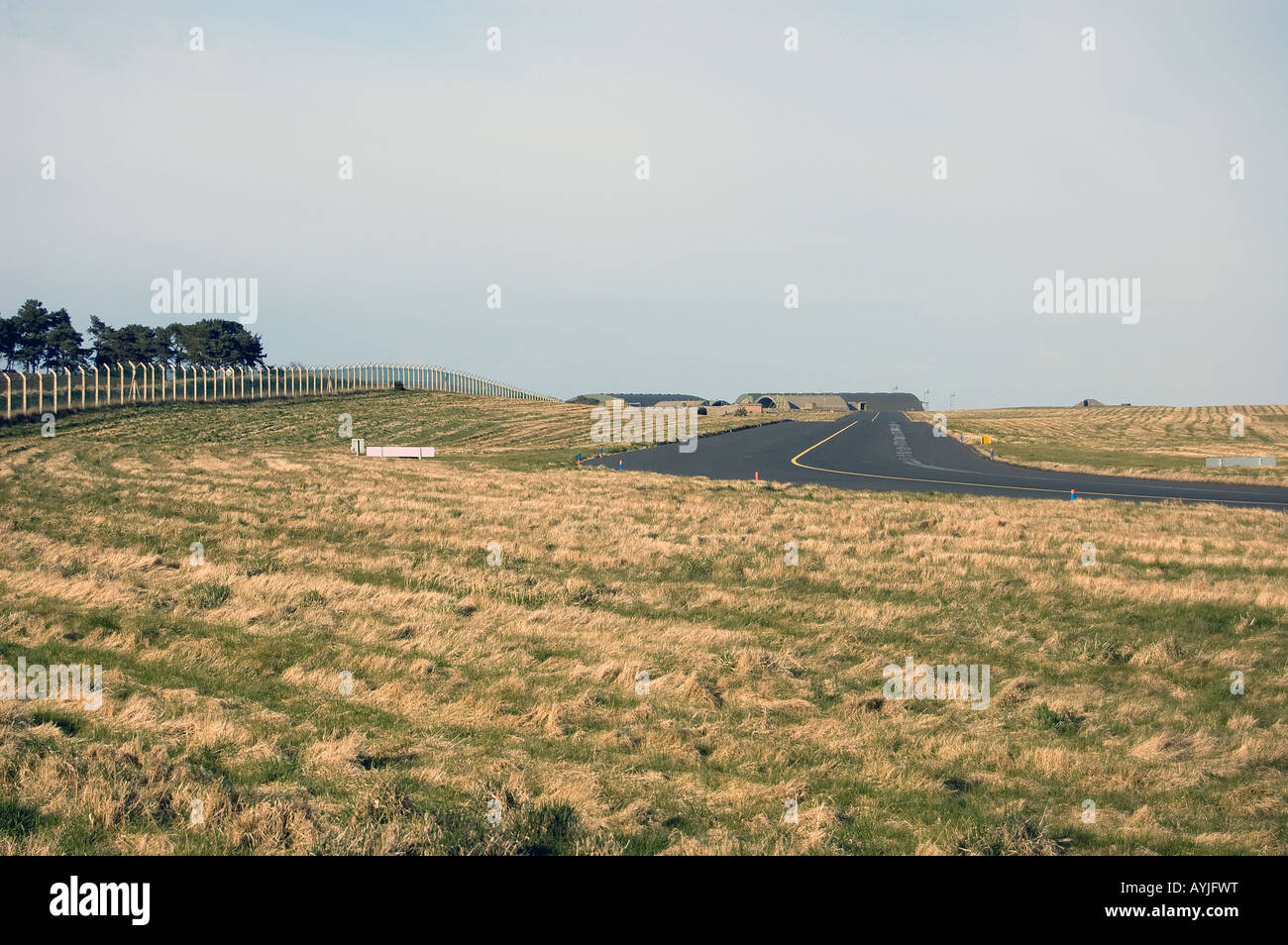 The taxiing strip at RAF Lossiemouth, Scotland. - Stock Image