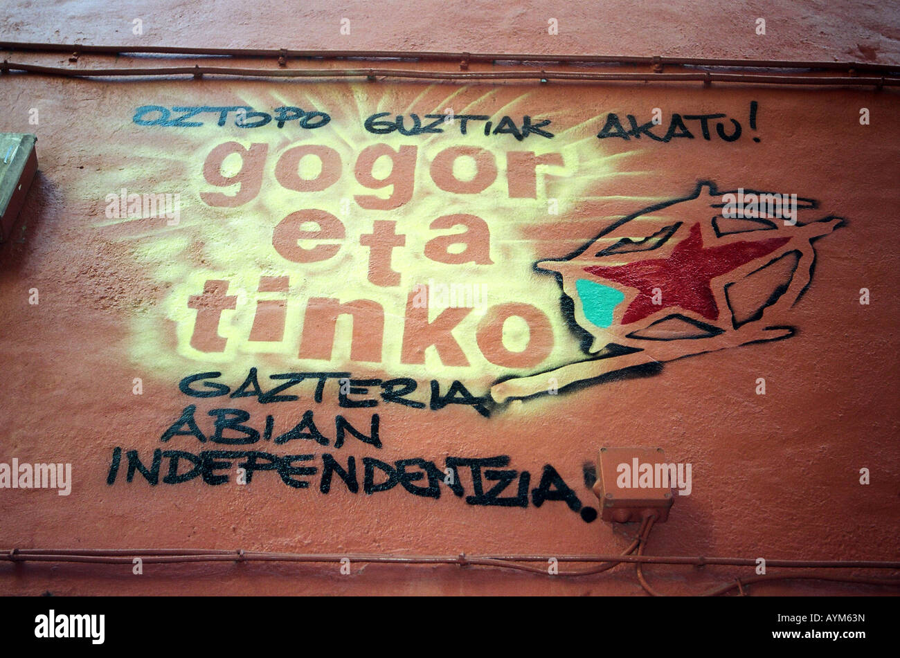 Graffiti supporting Basque Independence from Spain on a wall in ...