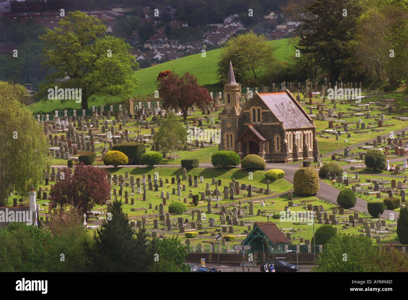 The cemetery near East Ogwell Newton Abbot in Devon UK Stock Photo