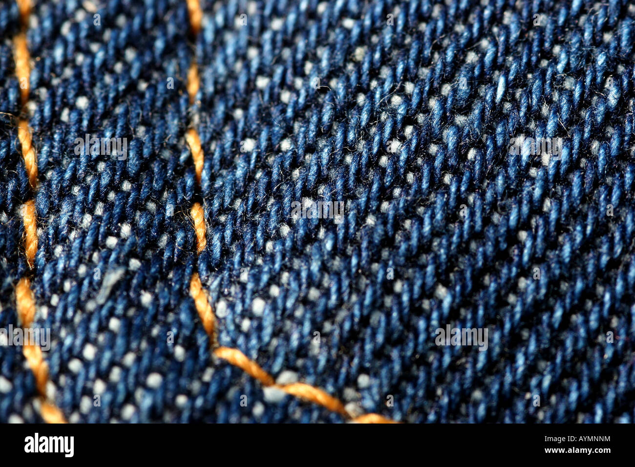 macro shot of denim pocket - Stock Image