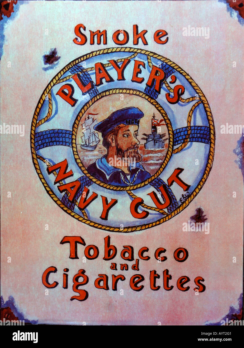 Player's Navy Cut cigarette advert - Stock Image