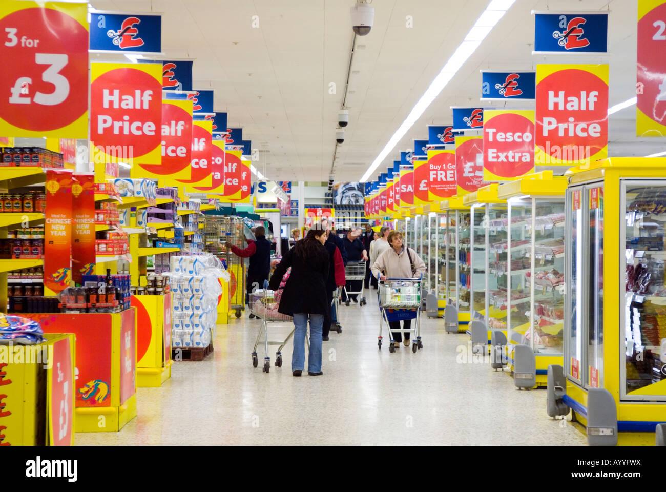 Supermarket Aisle Signs