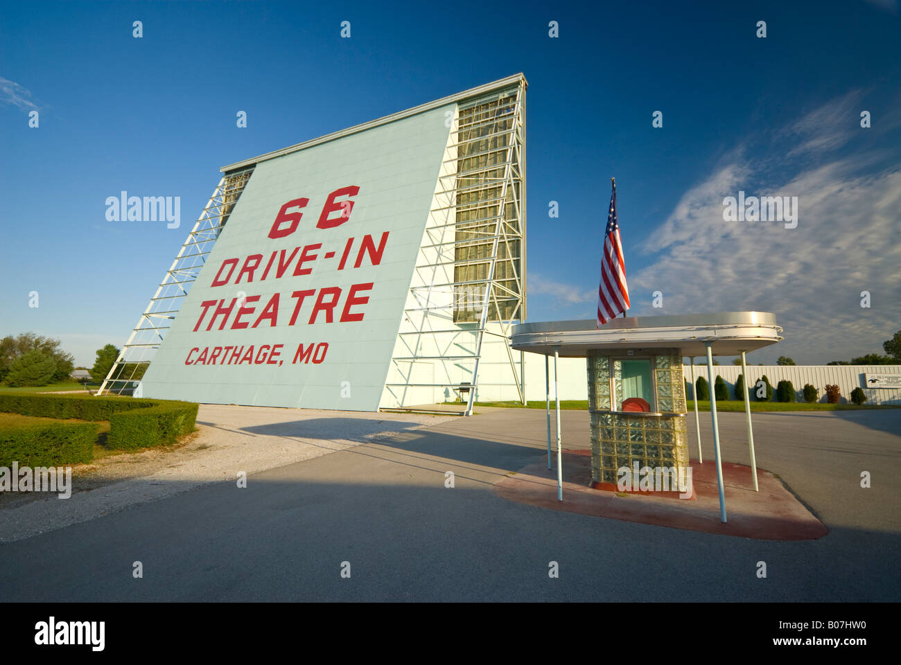 USA, Missouri, Route 66,  Carthage, Drive-in Cinema - Stock Image