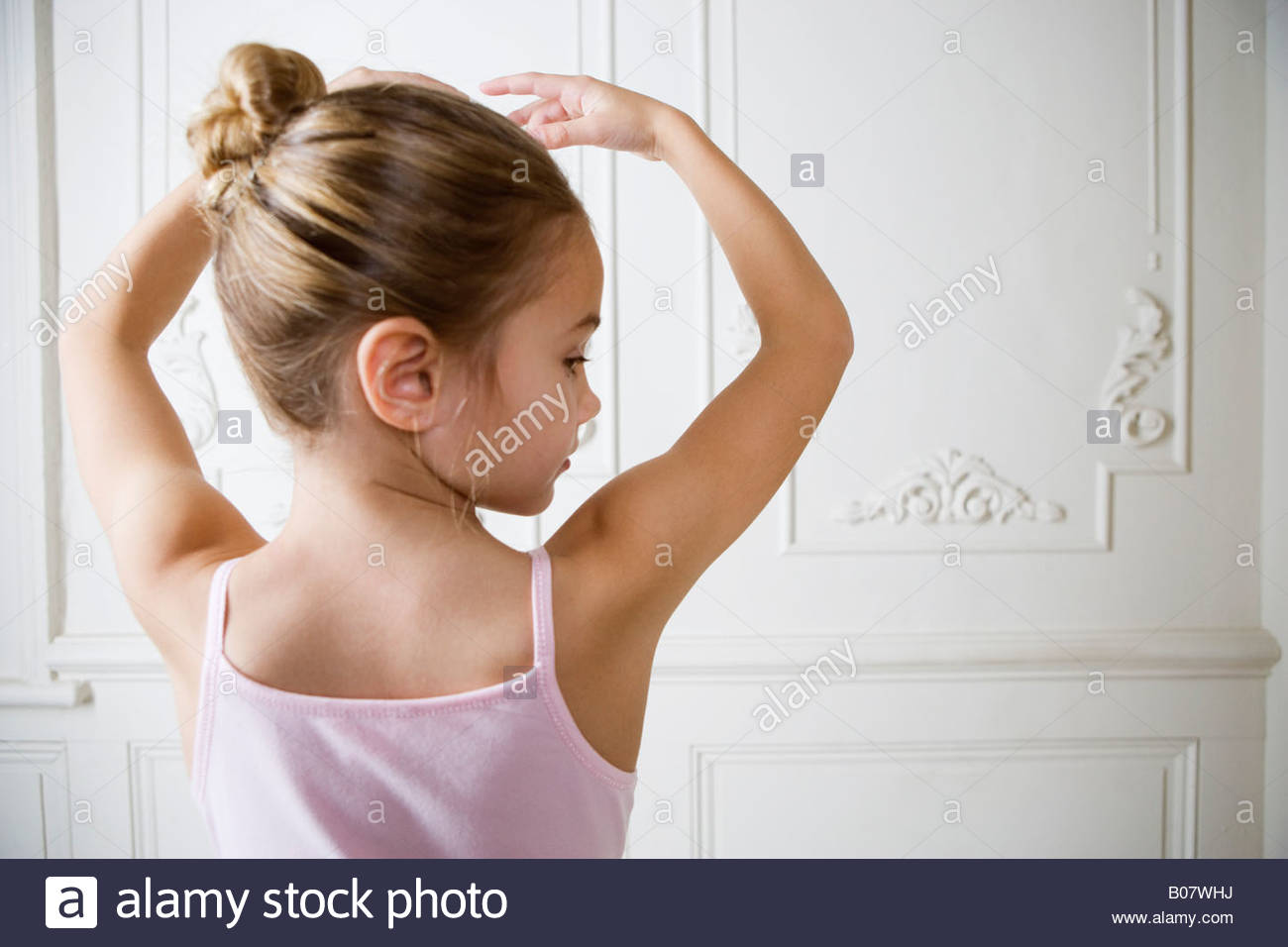Young girl performing a ballet move Stock Photo