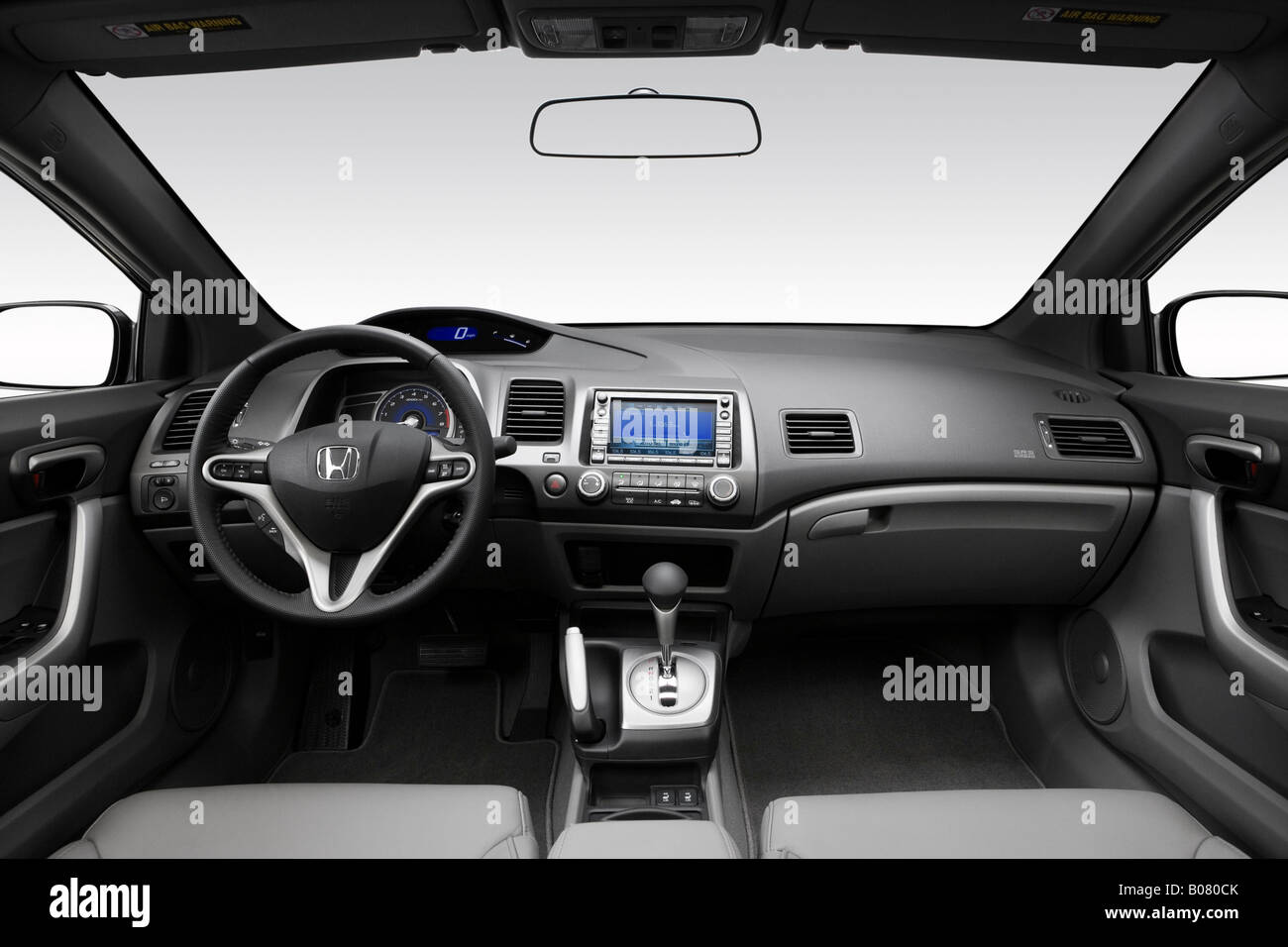 2008 honda civic ex l in gray dashboard center console. Black Bedroom Furniture Sets. Home Design Ideas
