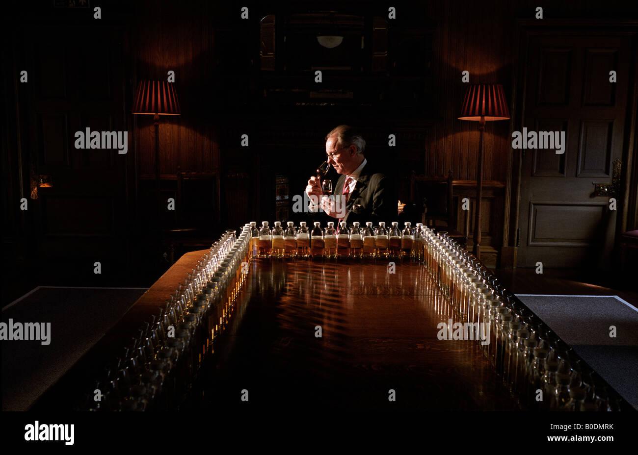 COLIN SCOTT MASTER BLENDER STRATHISLA DISTILLERY WHISKY SCOTLAND PERNOD RICARD CHIVAS REGAL BANFFSHIRE HIGHLANDS Stock Photo