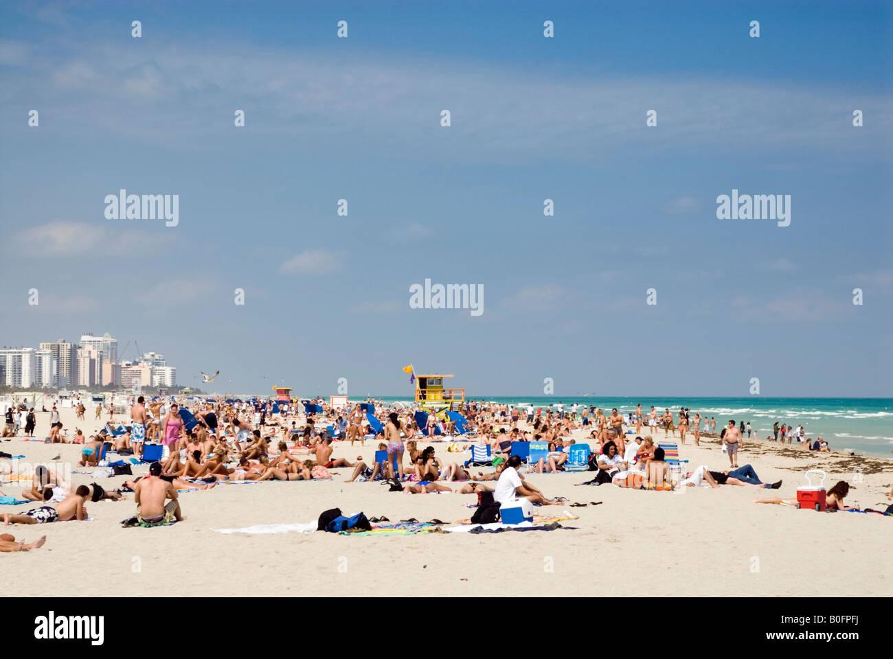 South Beach Miami Florida USA - Stock Image