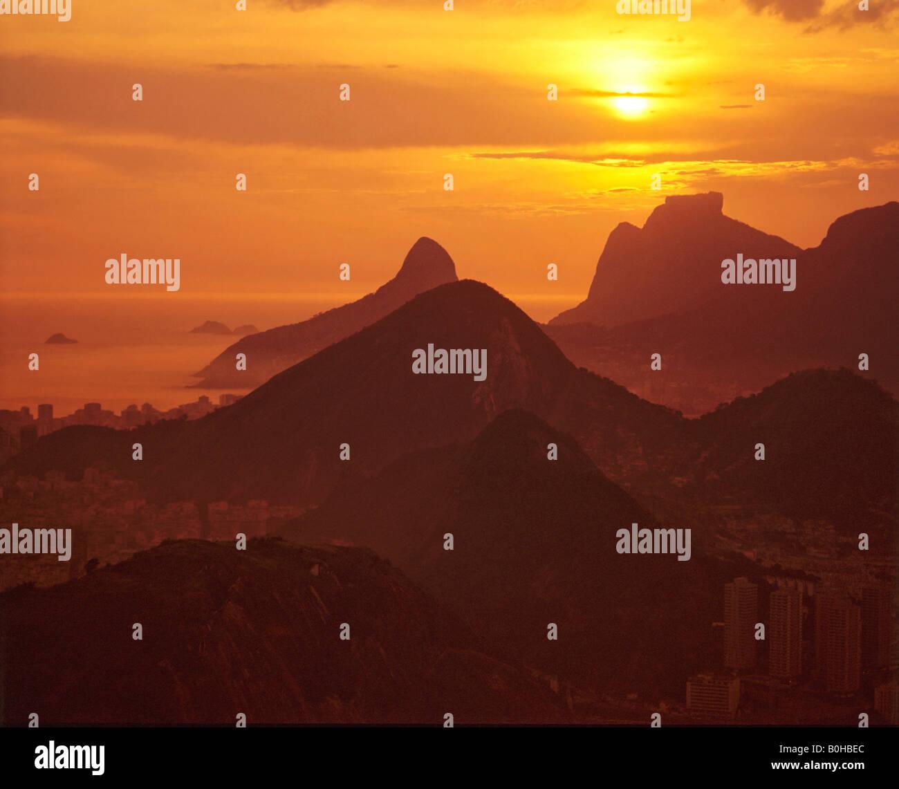 Rio de Janeiro at sunset, Brazil, South America - Stock Image