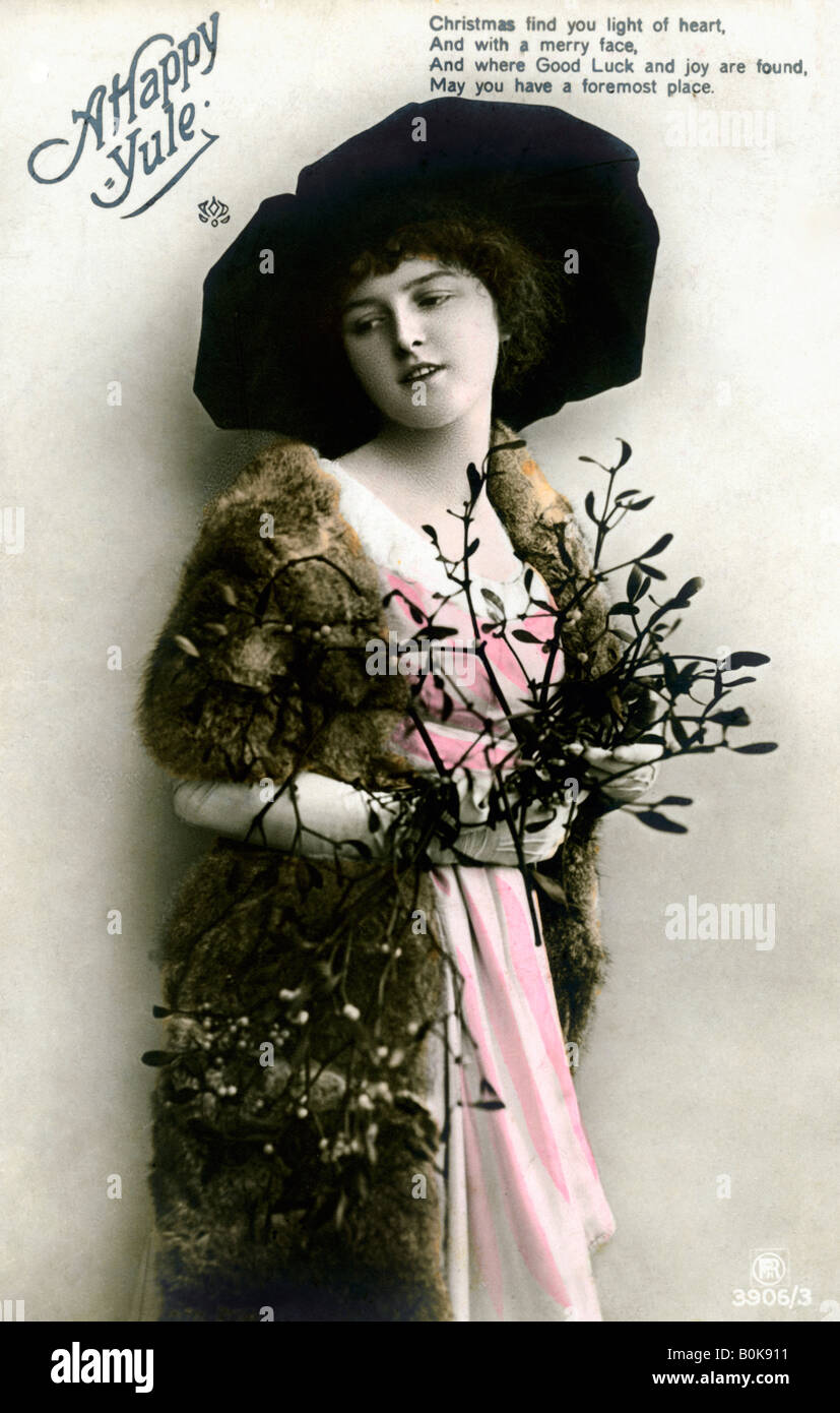 'A Happy Yule', 1913. Stock Photo