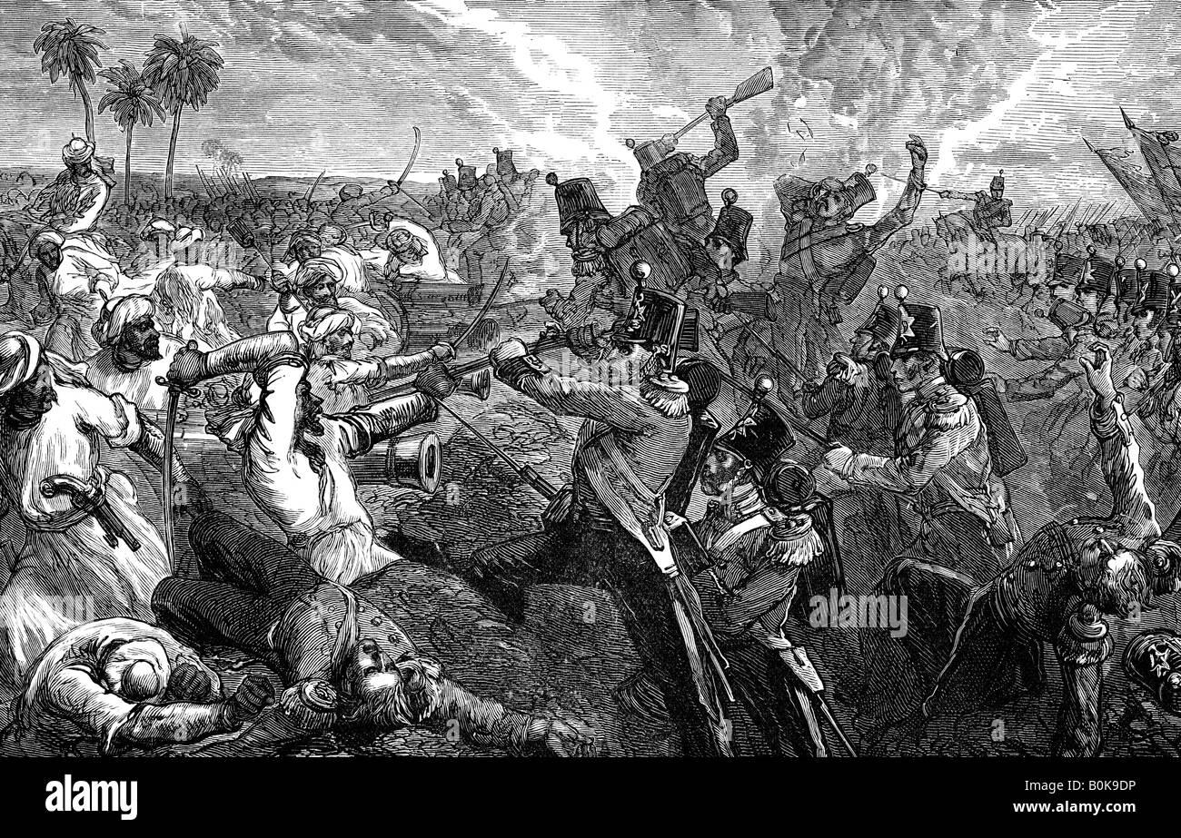 The Battle of Ferozeshah, India, 1845, (1900).  Artist: Unknown - Stock Image
