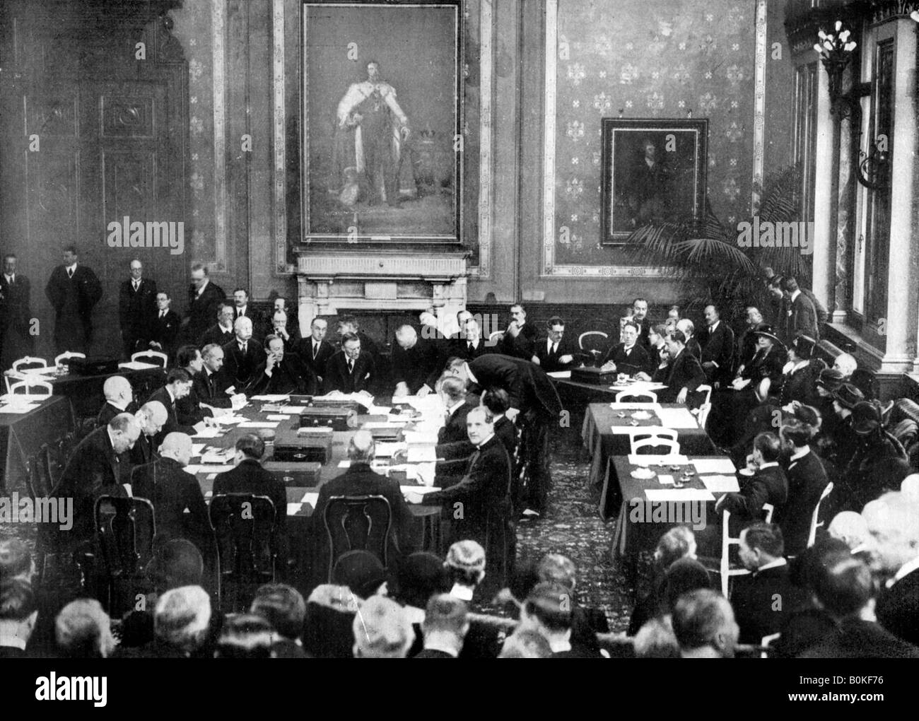 Signing The Locarno Treaties At The British Foreign Office London