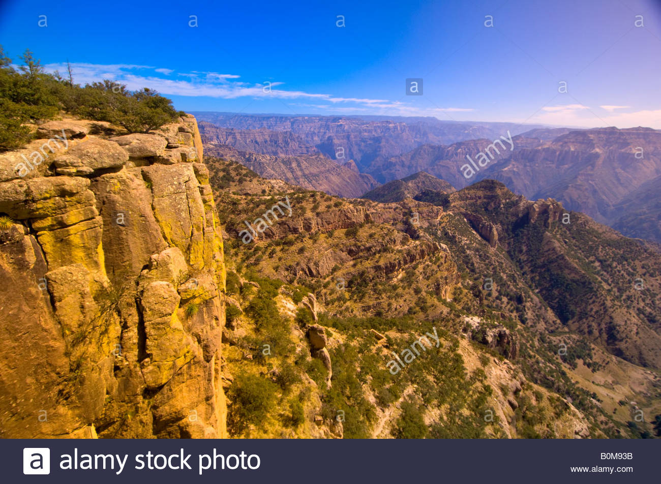 The Copper Canyon overlook at Divisadero Mexico - Stock Image