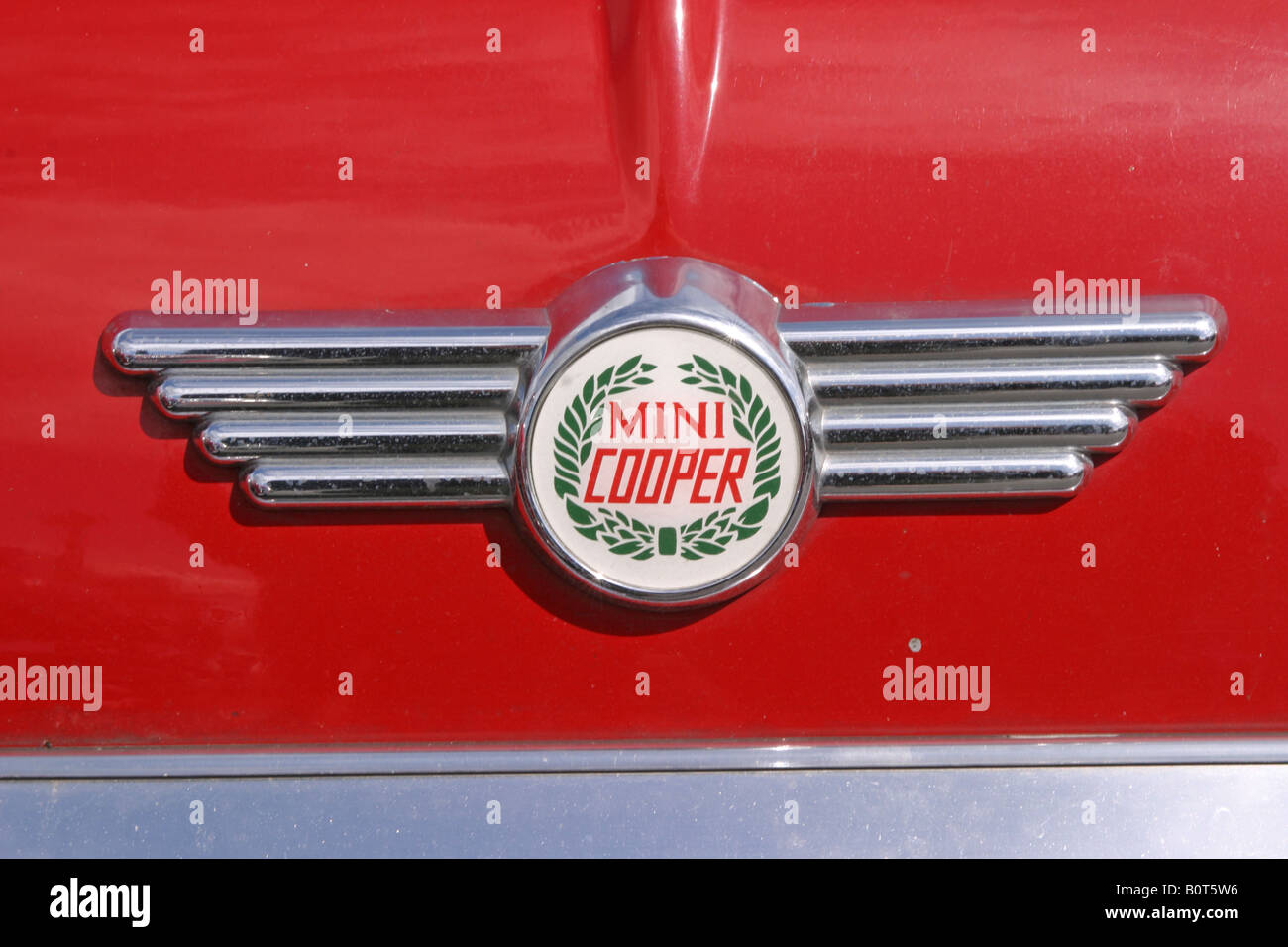 Mini Cooper Bonnet Badge - Stock Image