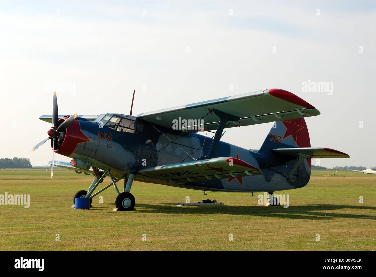 Historical airplane Antonov An-2 - Stock Image