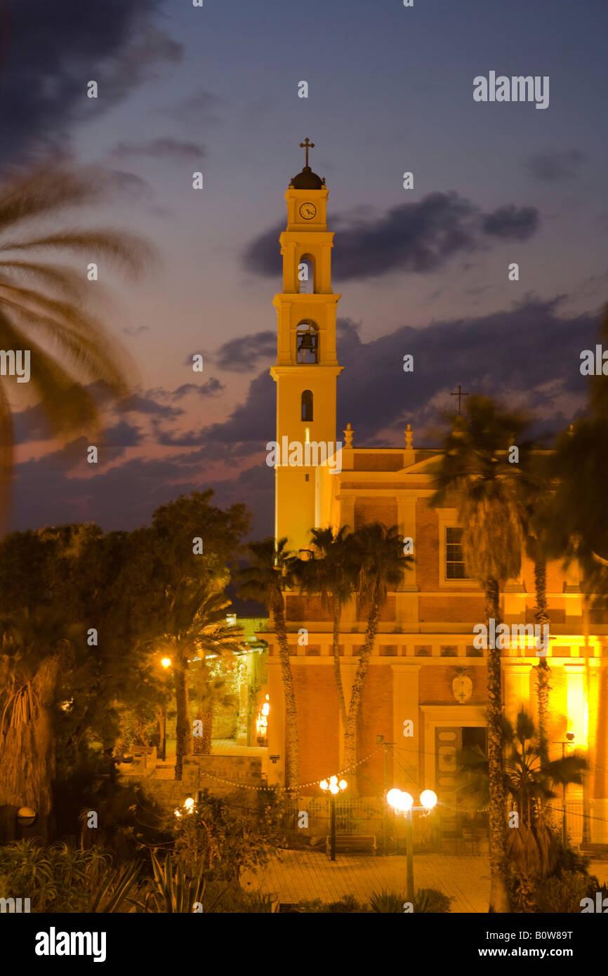 St Peter's Church, Jaffa, Tel Aviv, Israel, Middle East - Stock Image