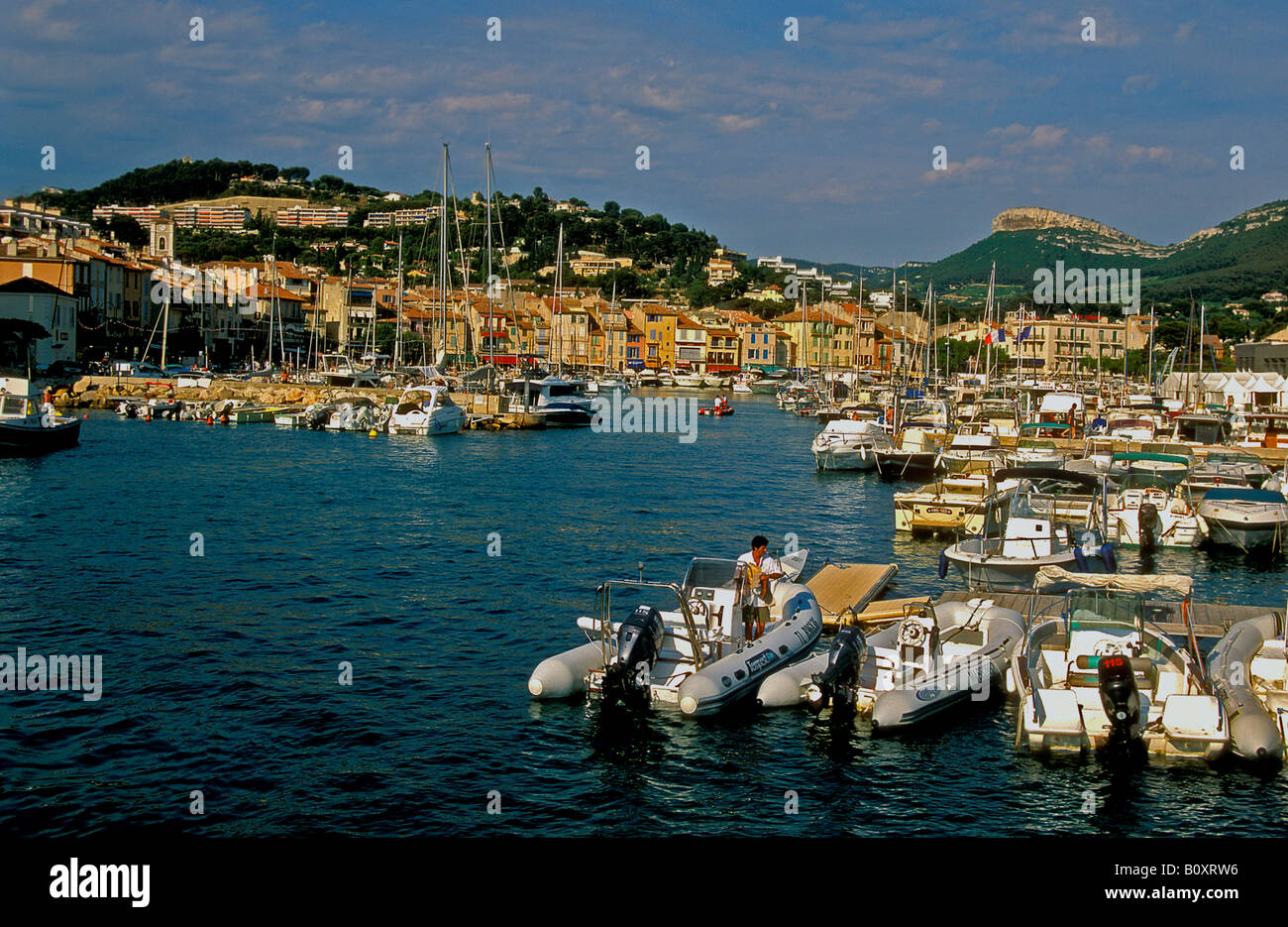 boats at Cassis, France, Provence, Bouches-du-Rhne - Stock Image