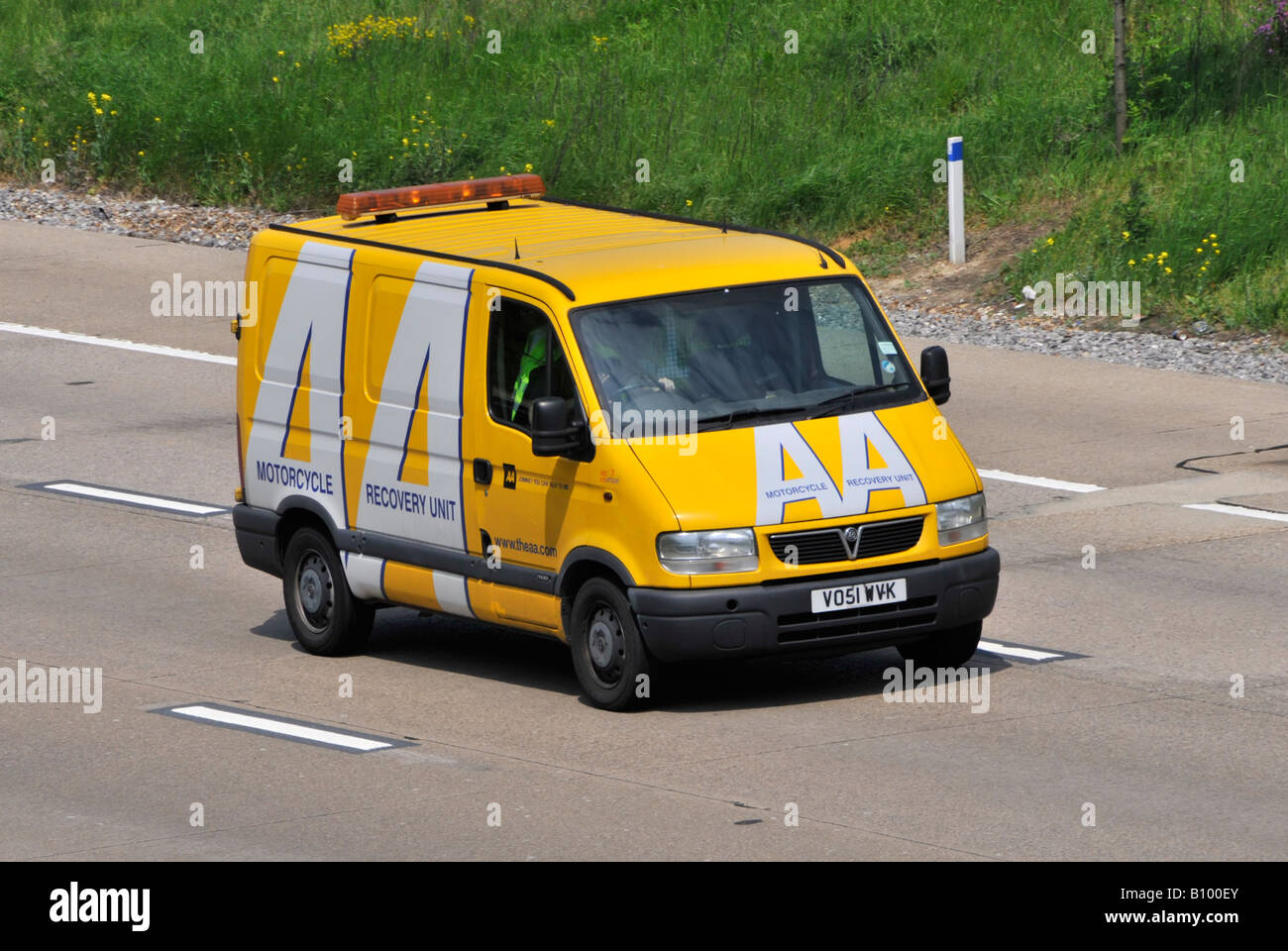 AA automobile association breakdown recovery rescue van for motorcyclesStock Photo