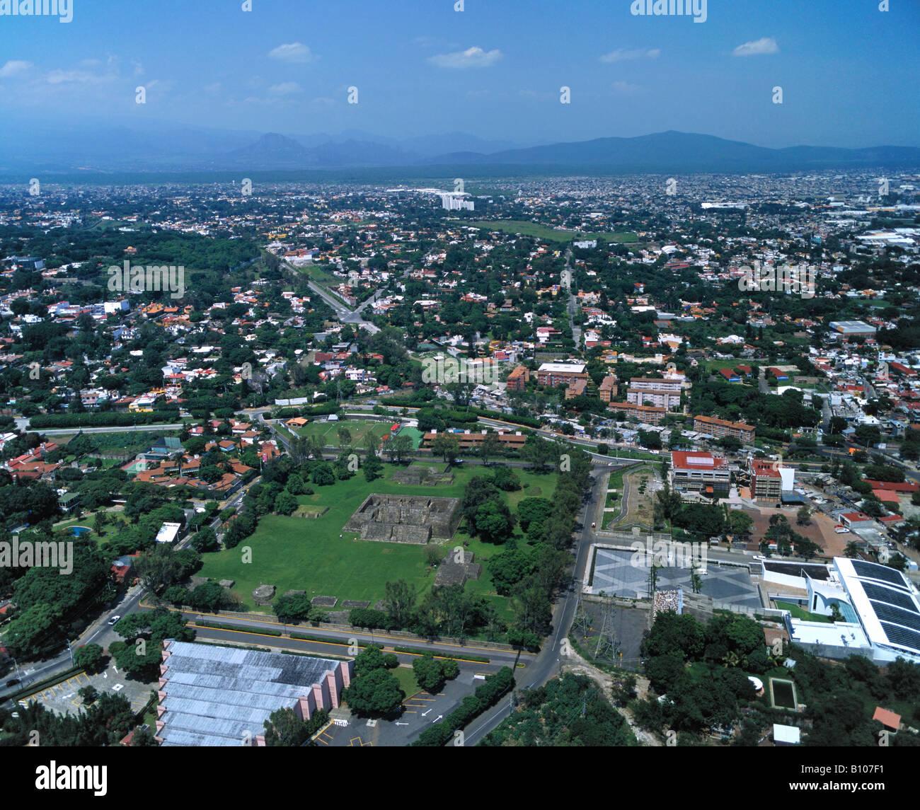 aerial above Cuernavaca Morelos Mexico - Stock Image