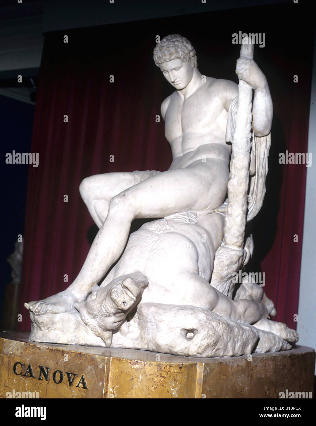Theseus and the Minotaur by Canova Neo classical sculpture Copyright AAA Collection - Stock Image