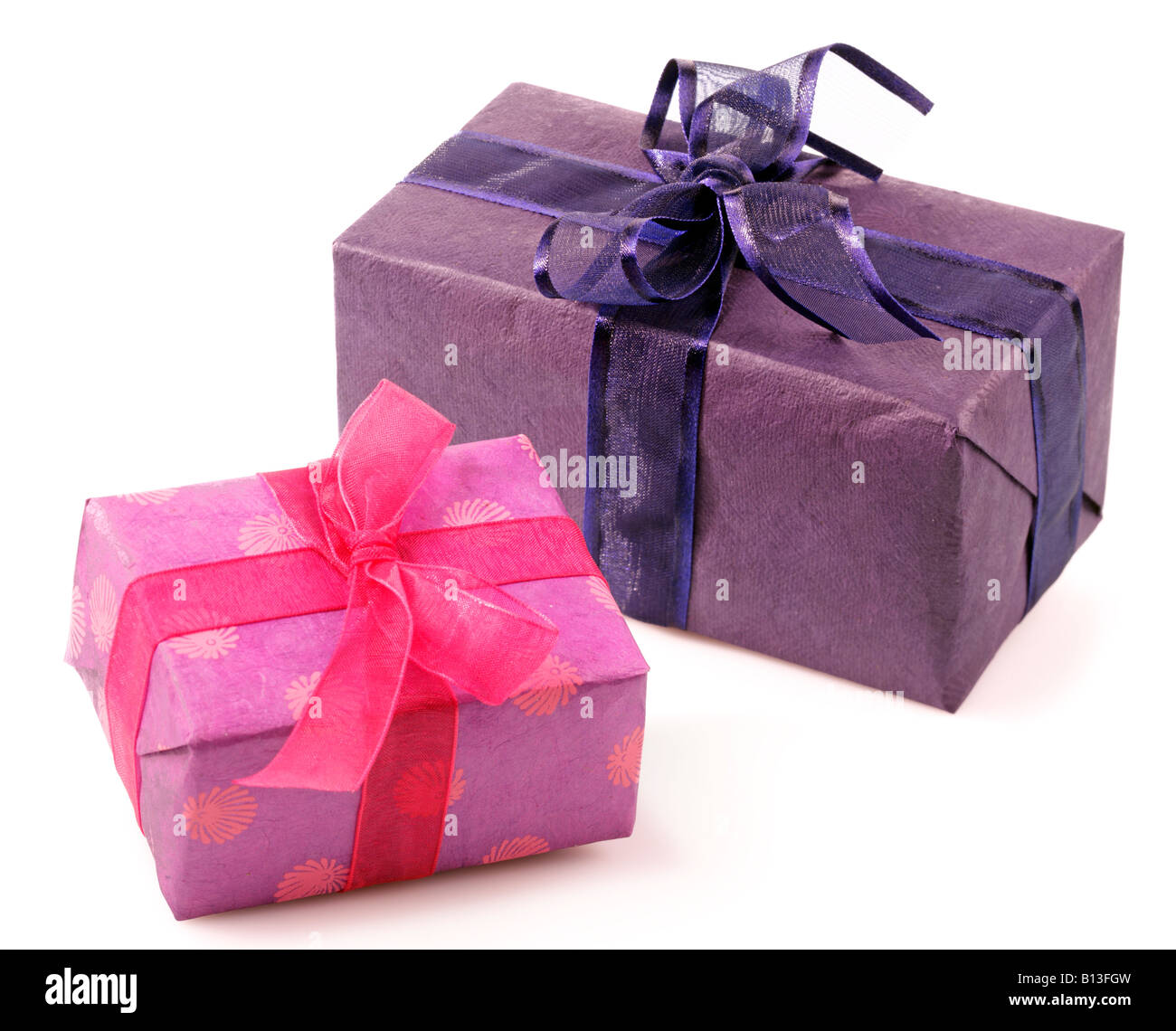 TWO WRAPPED GIFTS Stock Photo: 17903113 - Alamy