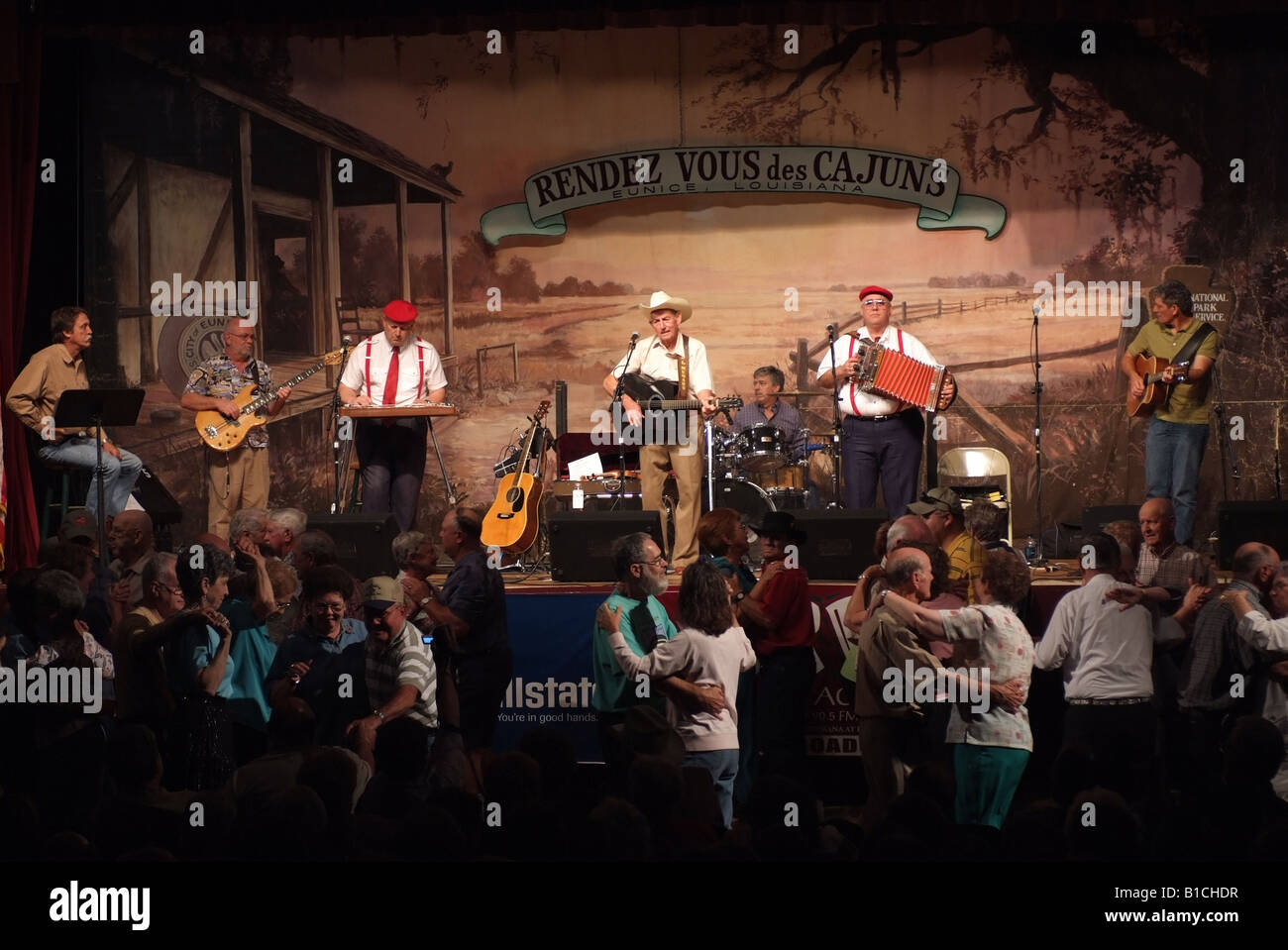 USA Louisiana LA Cajun Country Eunice Liberty Theater live radio show Stock Photo