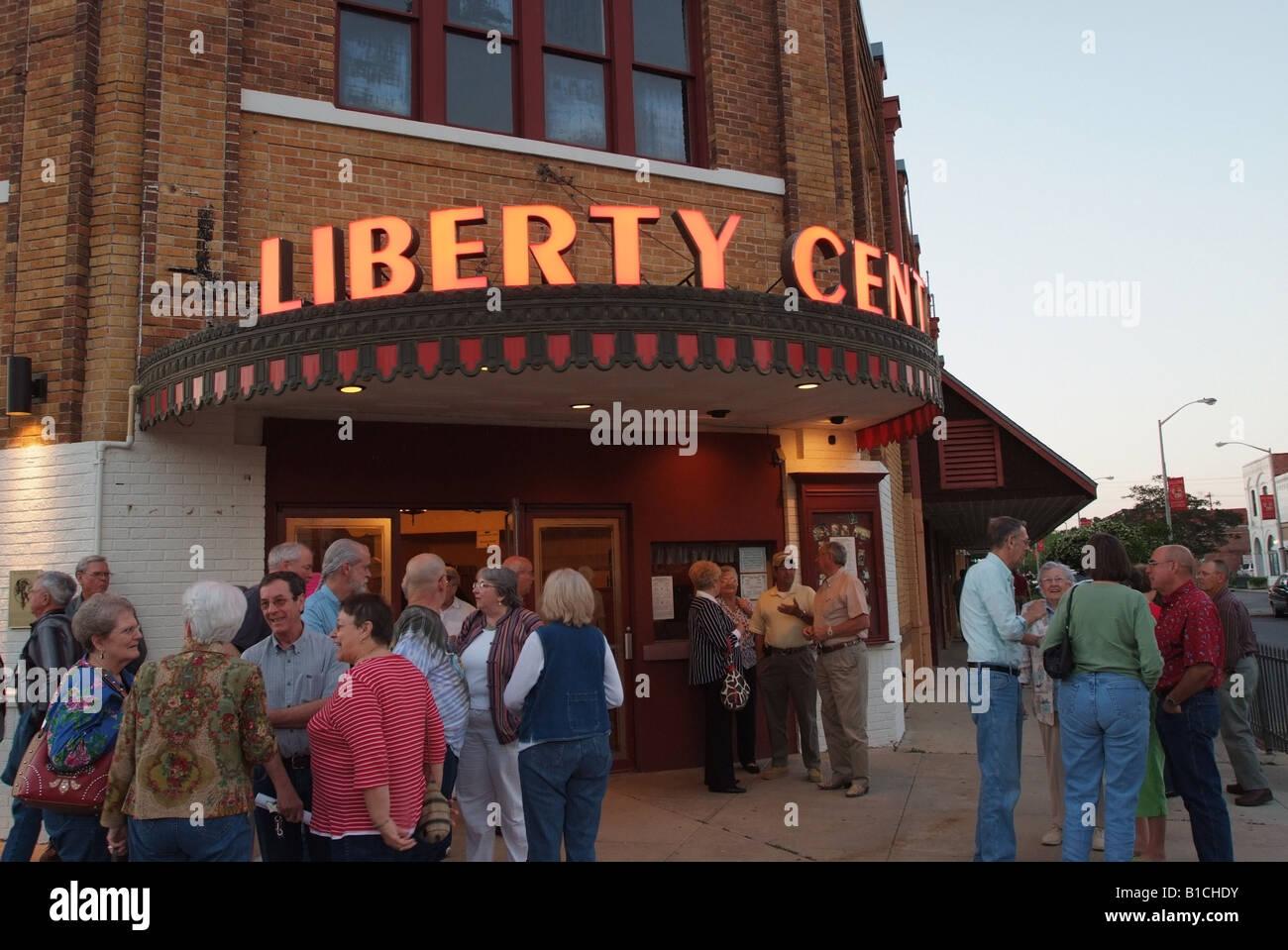 USA Louisiana LA Cajun Country Eunice Liberty Theater live radio show Stock Photo