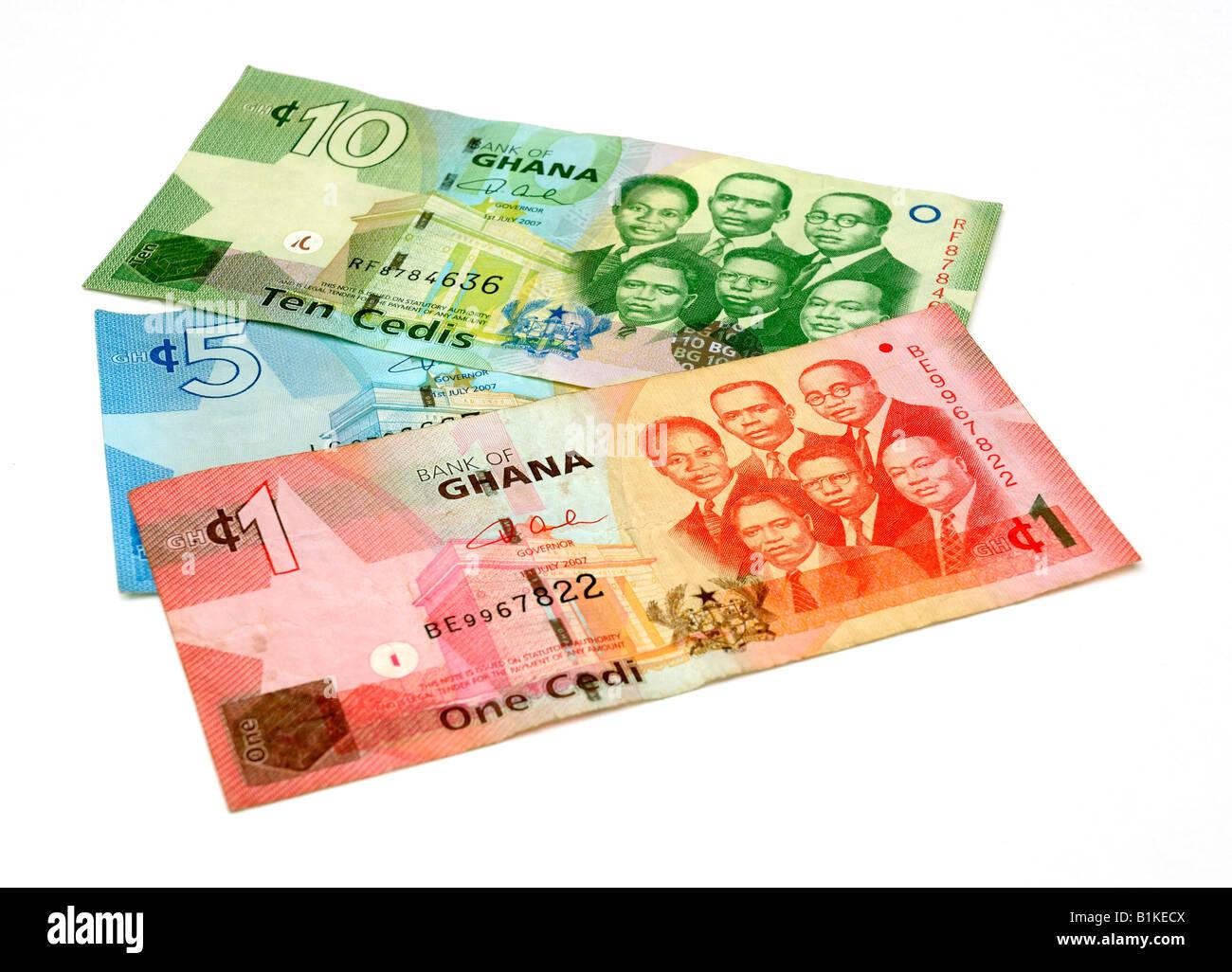 ghana bank notes stock photo 18253450 alamy